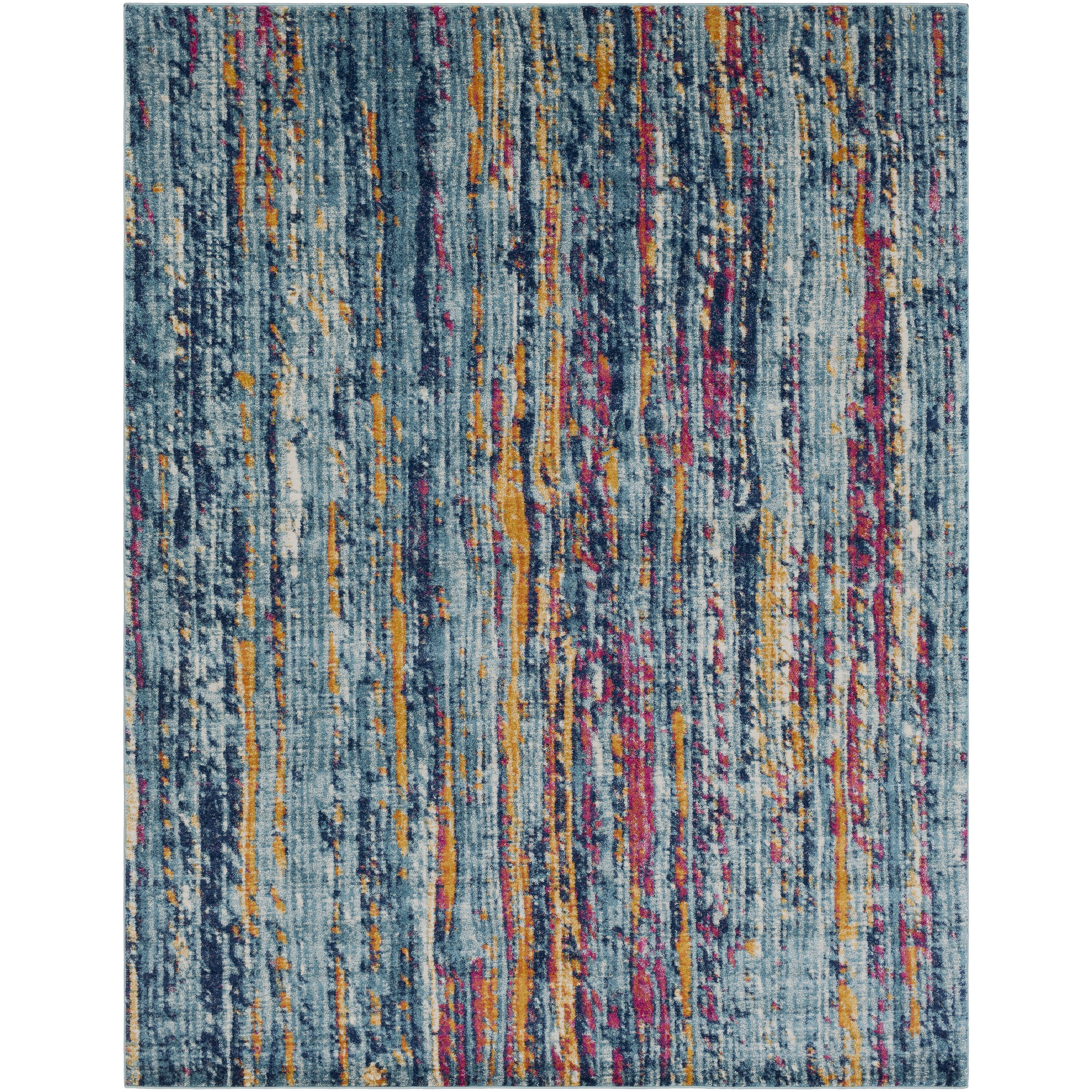 surya harput blue orange area rug wayfair. Black Bedroom Furniture Sets. Home Design Ideas