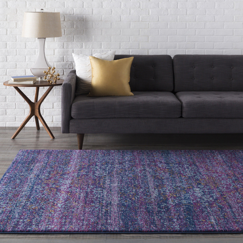 Purple And Lavender Rug: Surya Harput Purple/Blue Area Rug