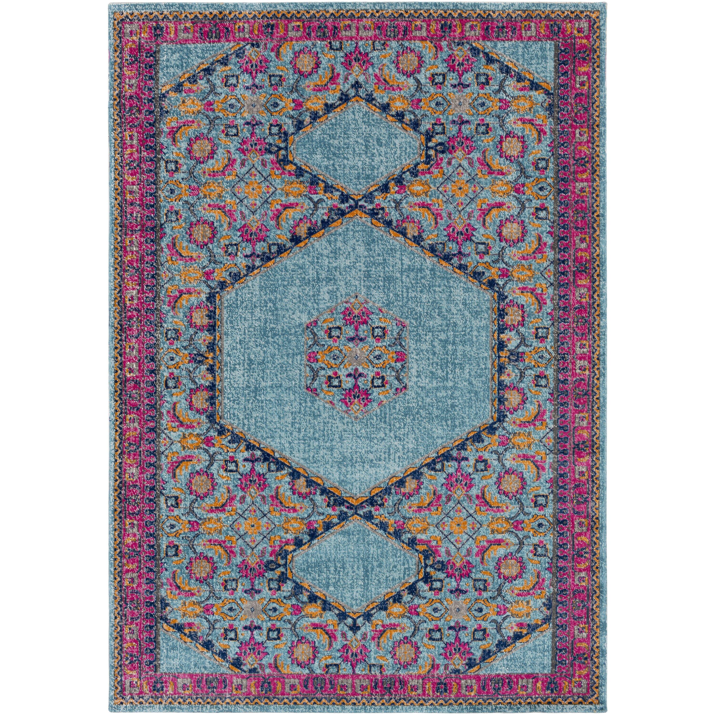 surya tessera blue pink area rug wayfair. Black Bedroom Furniture Sets. Home Design Ideas