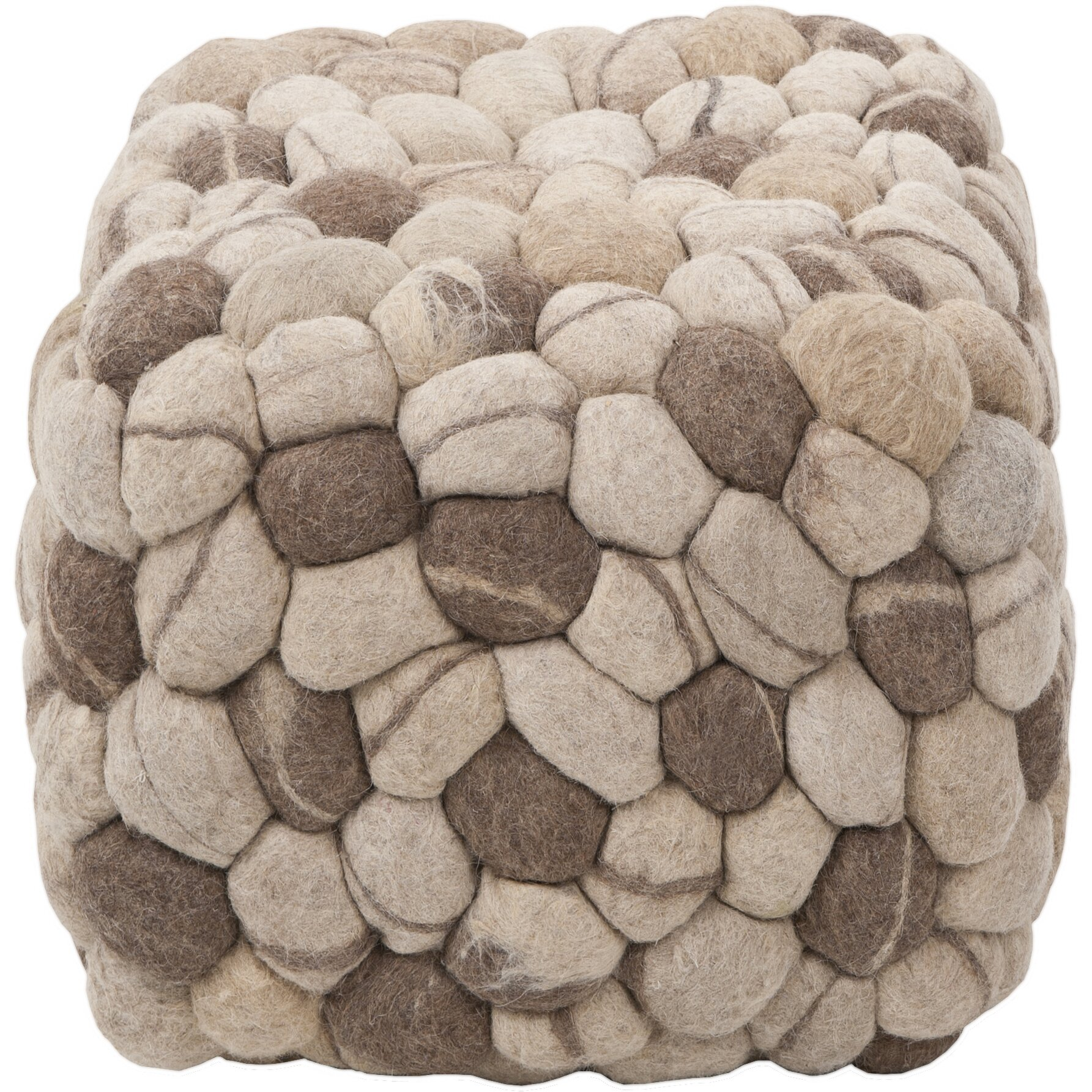 surya pouf cube ottoman reviews wayfair. Black Bedroom Furniture Sets. Home Design Ideas