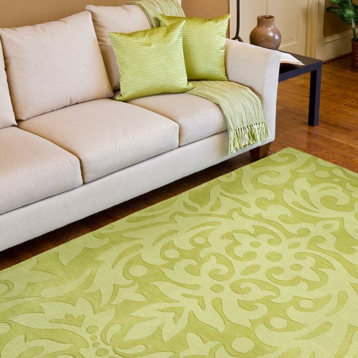 Lime Green Kitchen Rug: Surya Mystique Lime Green Floral Area Rug & Reviews