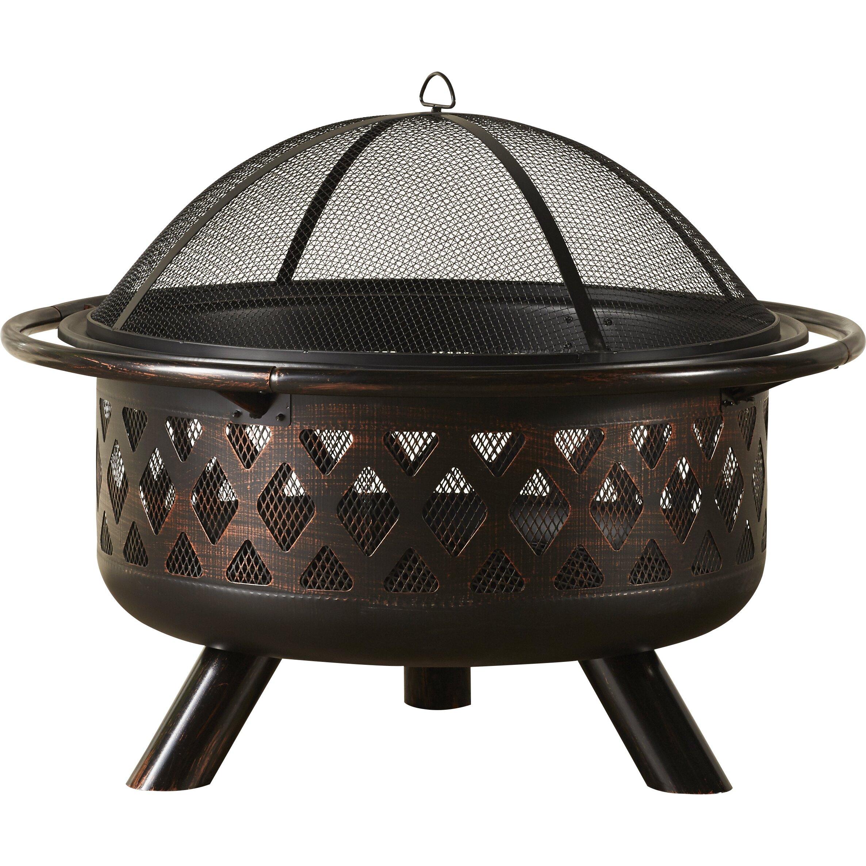 Uniflame Steel Wood Burning Fire Pit Amp Reviews Wayfair