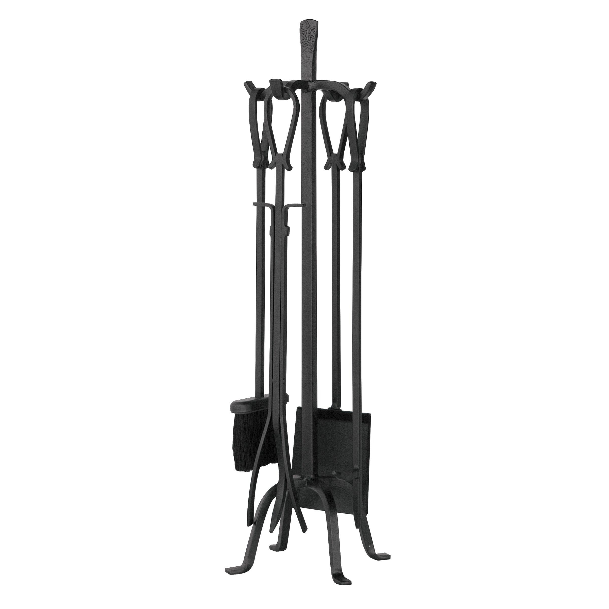 Uniflame 5 Piece Olde World Iron Fireplace Tool Set Reviews Wayfair