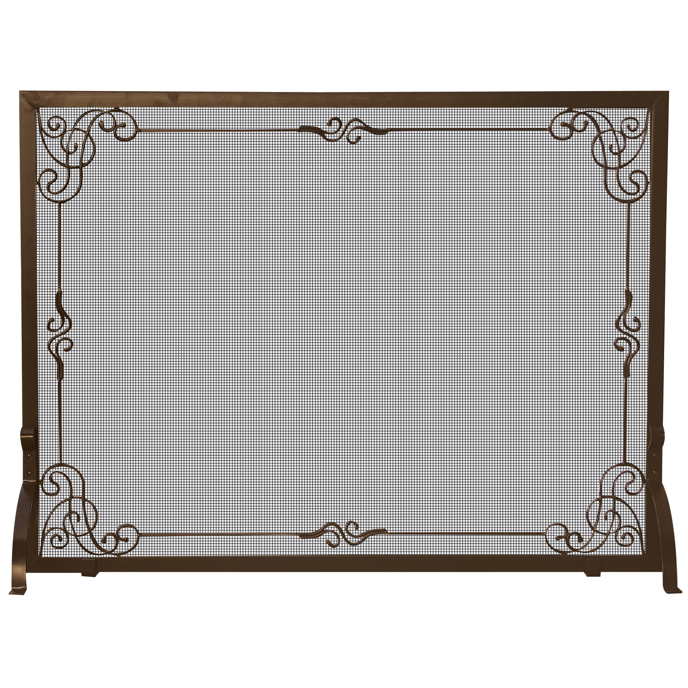 uniflame single panel fireplace screen reviews wayfair