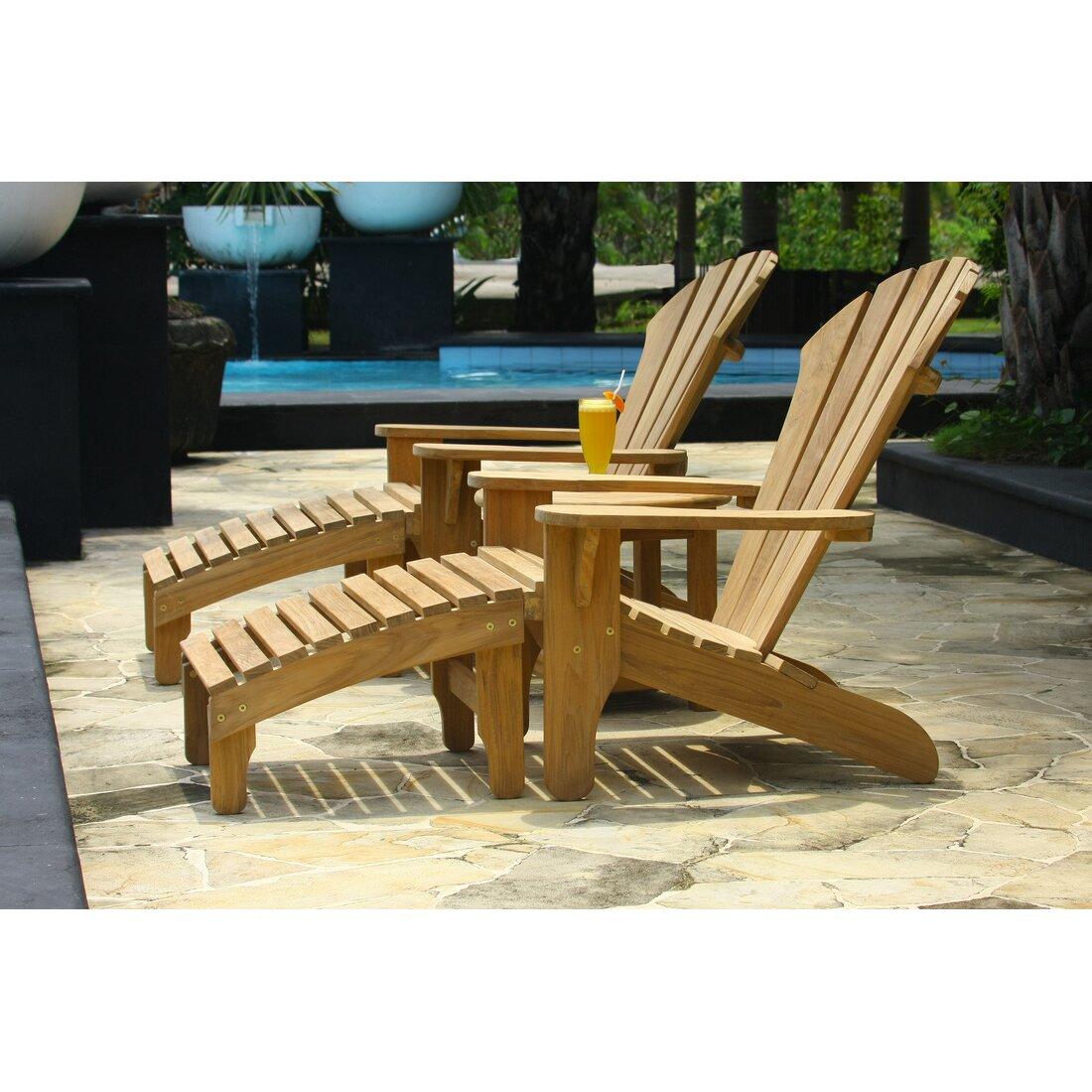 Douglas Nance Lakeside Adirondack Chair And Ottoman