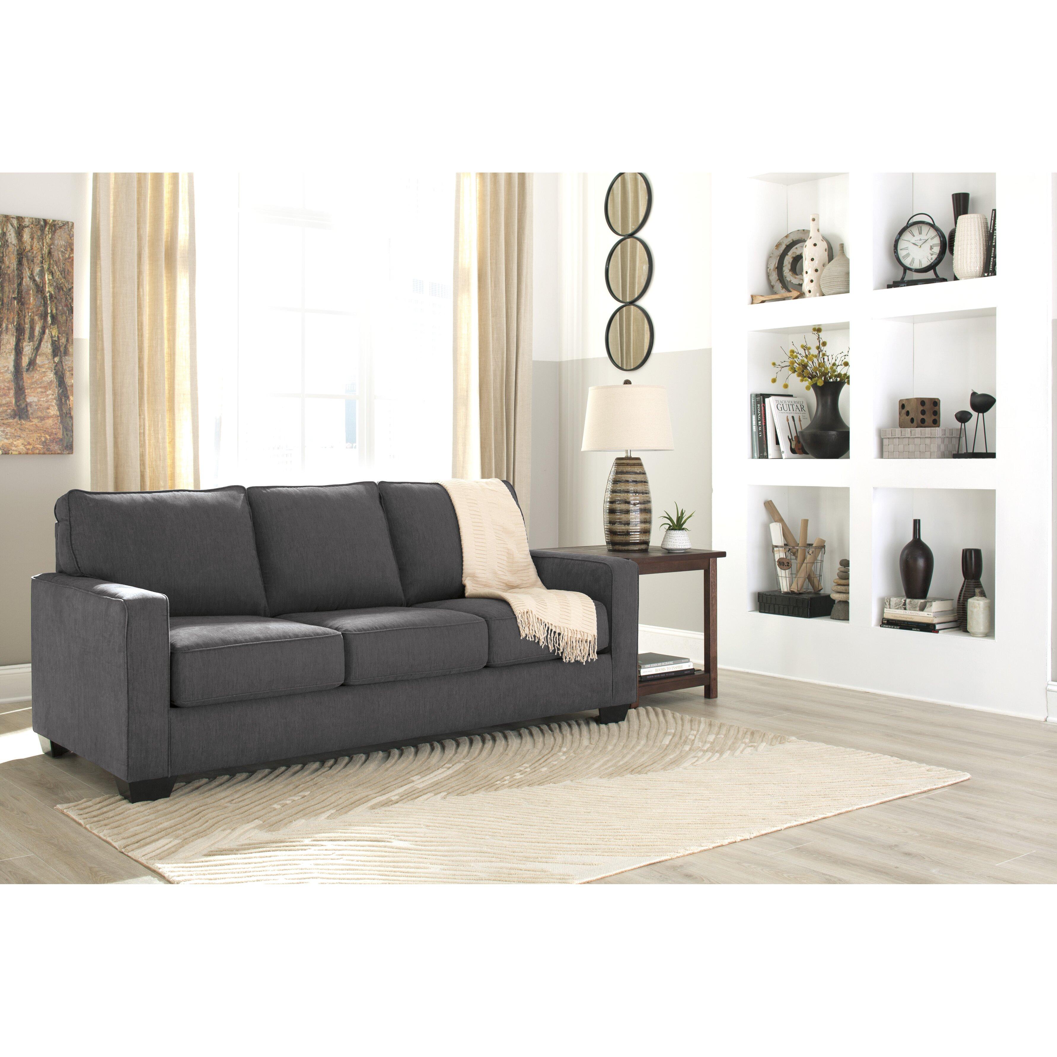 Benchcraft Zeb Queen Sleeper Sofa Amp Reviews Wayfair