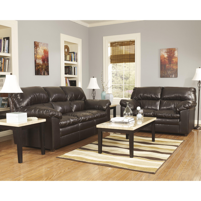 signature design by ashley vanhausen 3 piece coffee table set reviews. Black Bedroom Furniture Sets. Home Design Ideas