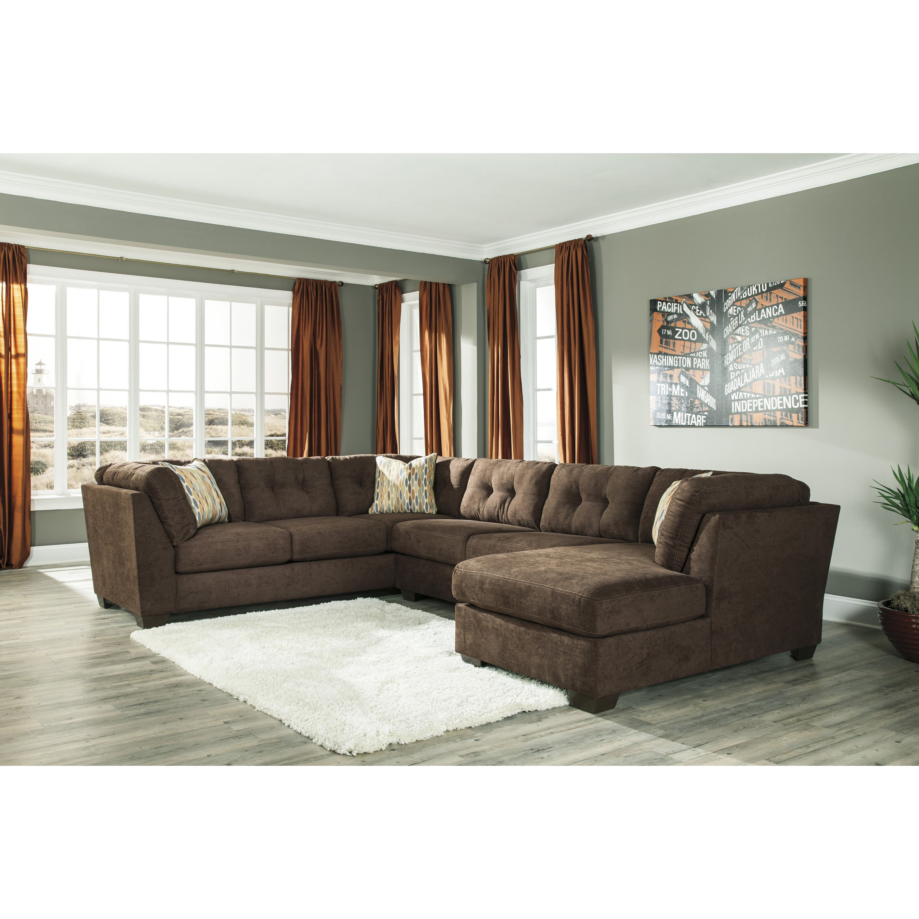 Ashley City Furniture: Benchcraft Delta City Right Sectional & Reviews