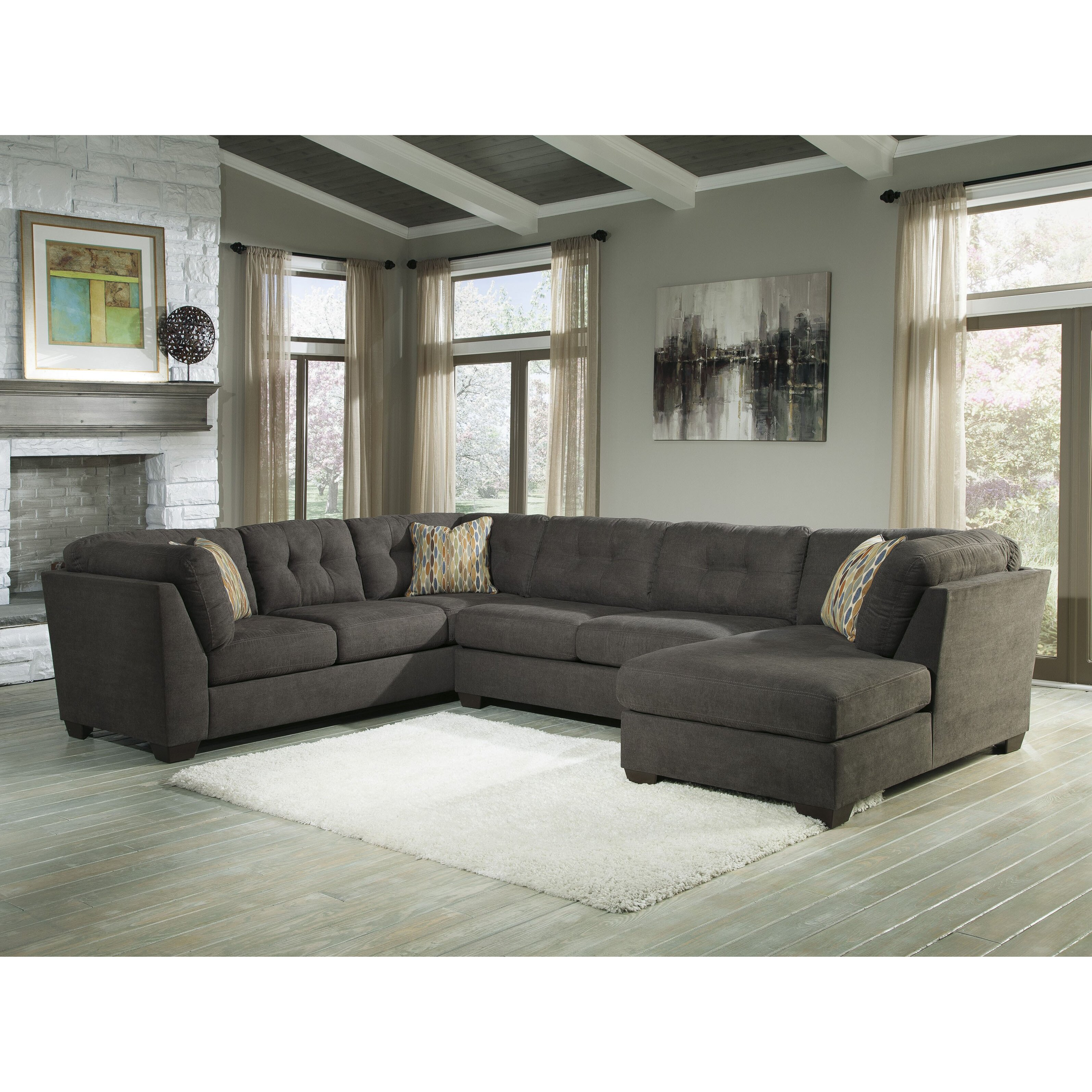 Benchcraft Delta City Right Sectional Reviews Wayfair