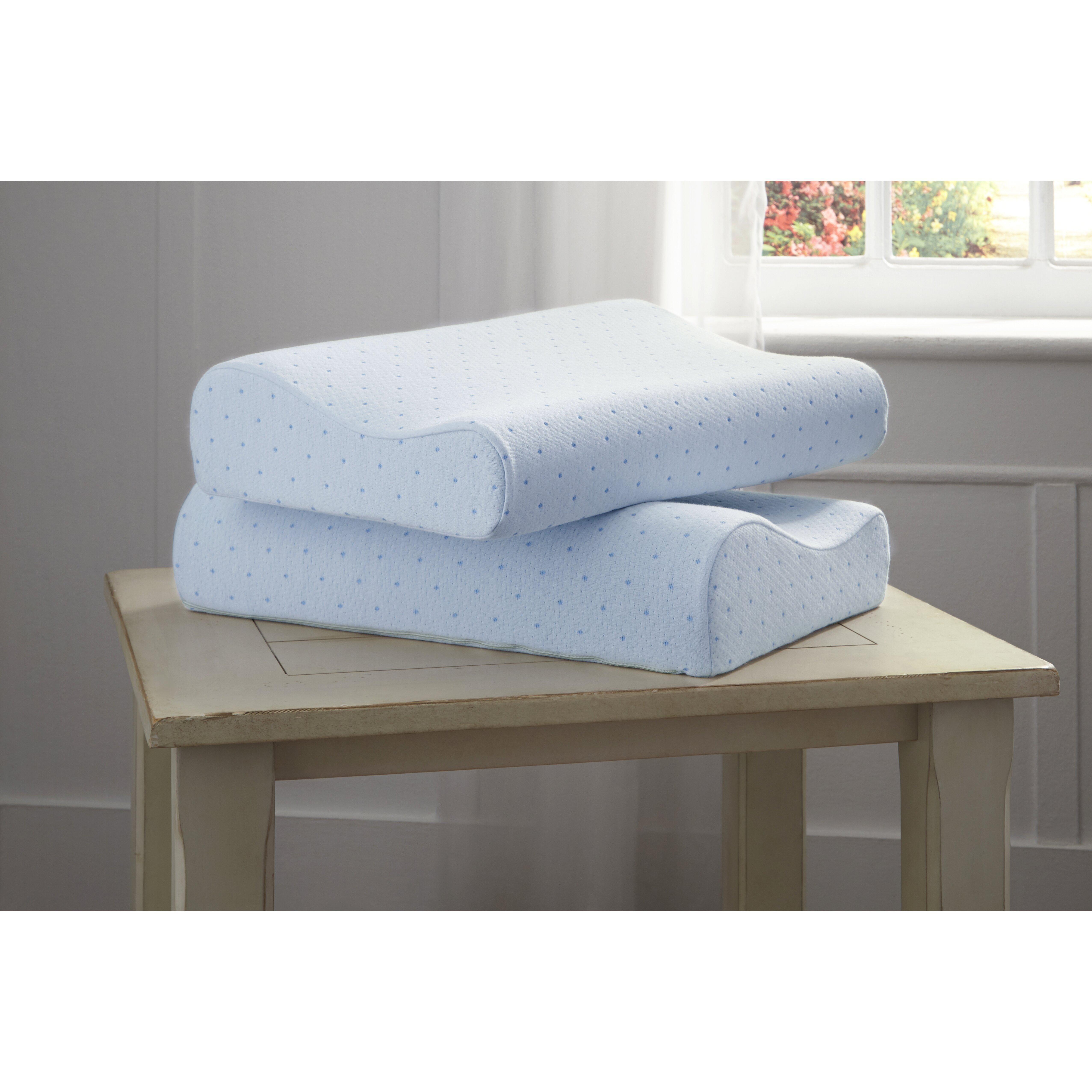 tempure rest cool memory foam contour pillow reviews wayfair. Black Bedroom Furniture Sets. Home Design Ideas