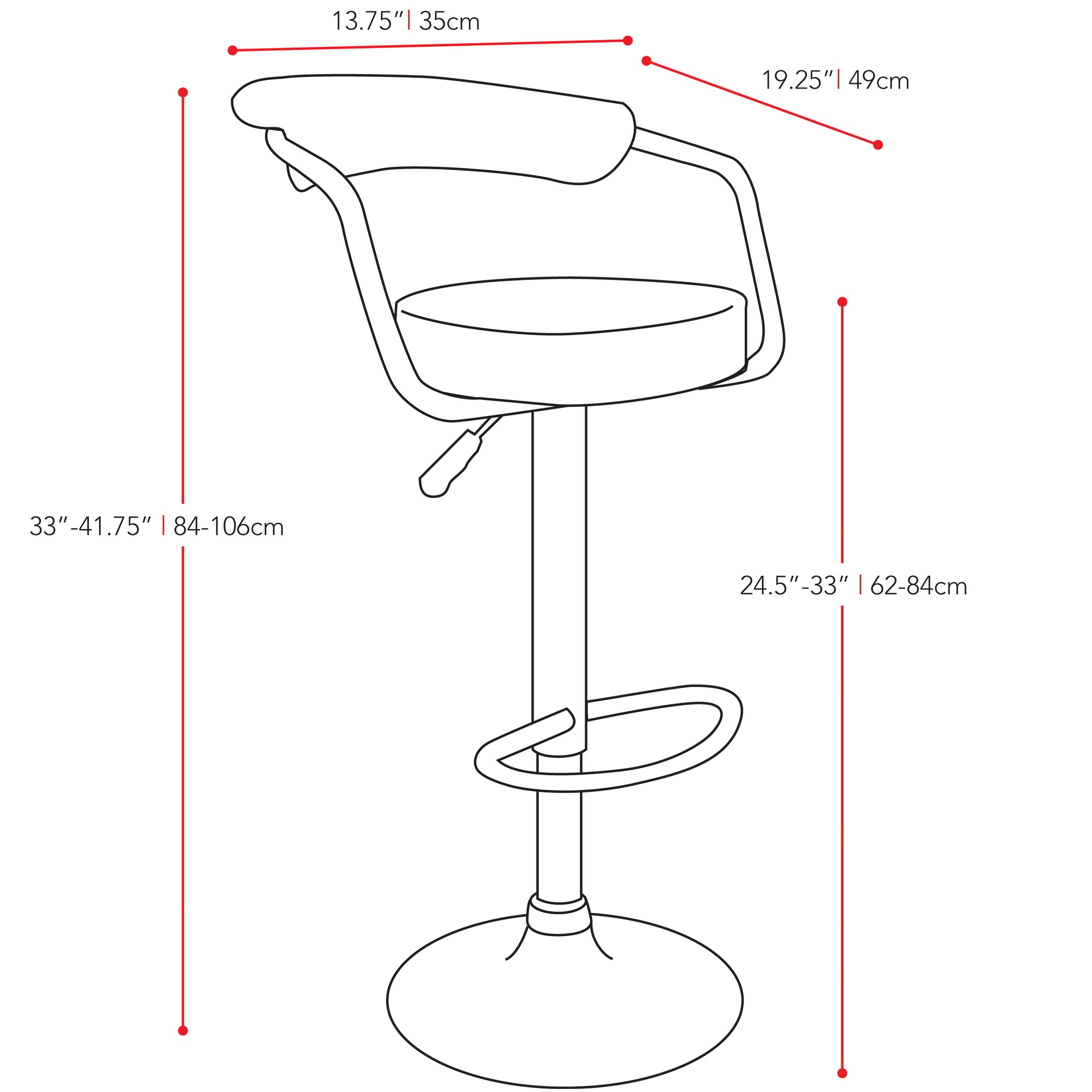 dCOR design CorLiving Adjustable Height Swivel Bar Stool  : dCOR design CorLiving Adjustable Height Swivel Bar Stool XSN1328 from www.wayfair.com size 2500 x 2500 jpeg 255kB