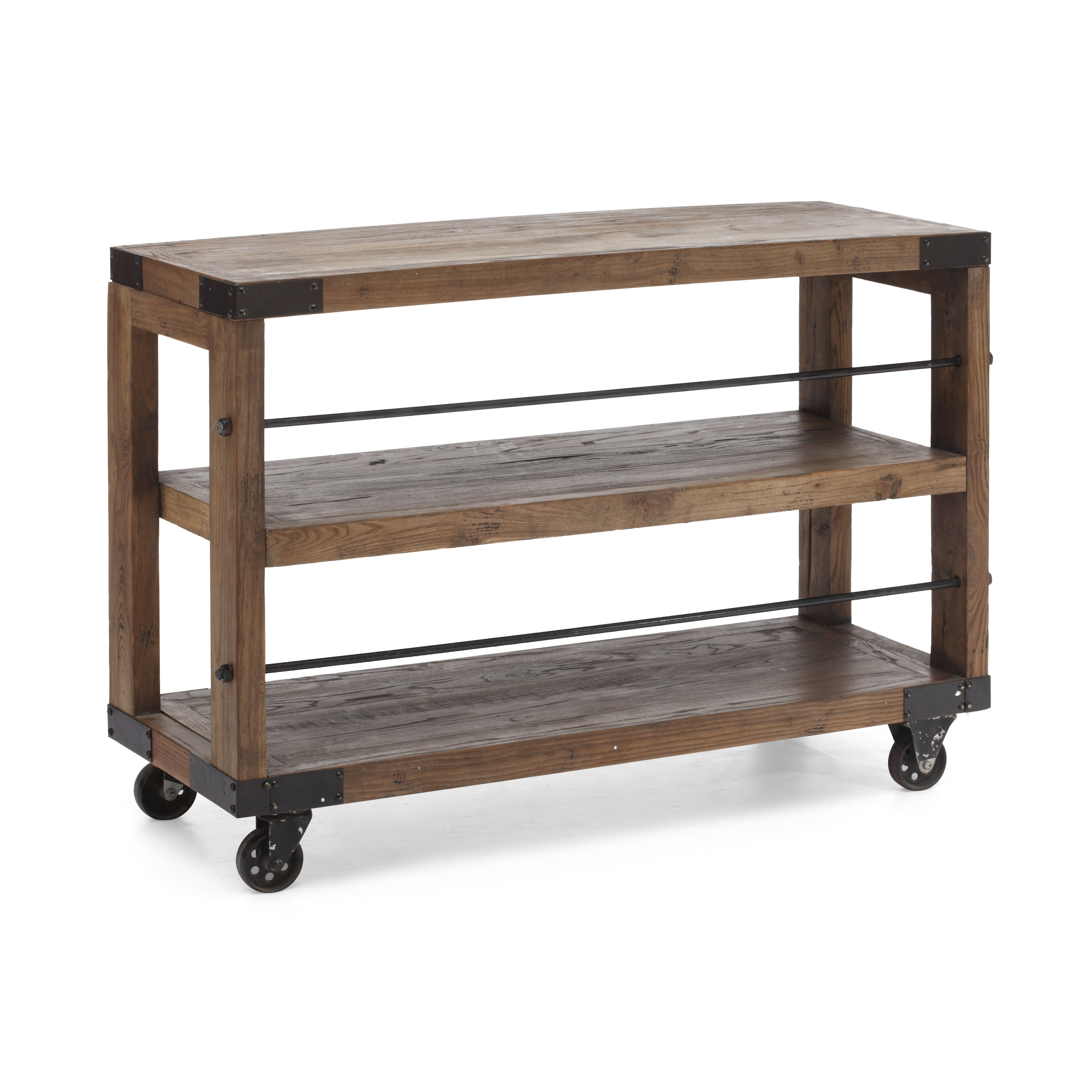 Bentley Industrial Metal And Wood Wheeled Kitchen Serving: Trent Austin Design Dublin Server & Reviews