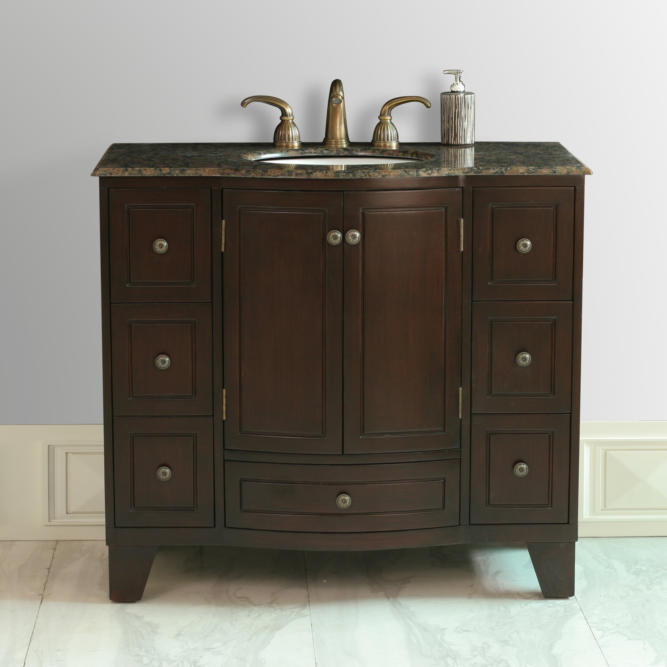 Dcor design lindenwood 40 single bathroom vanity set for Single bathroom vanity