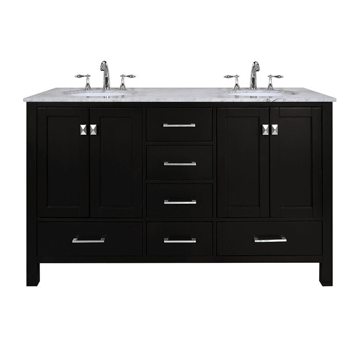 Dcor Design Embrey 60 Double Bathroom Vanity Set Reviews Wayfair