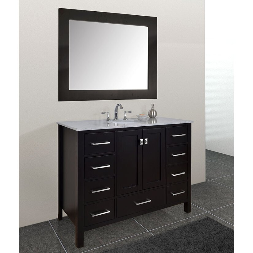 Dcor Design Embrey 48 Single Bathroom Vanity Set With Mirror Reviews Wayfair
