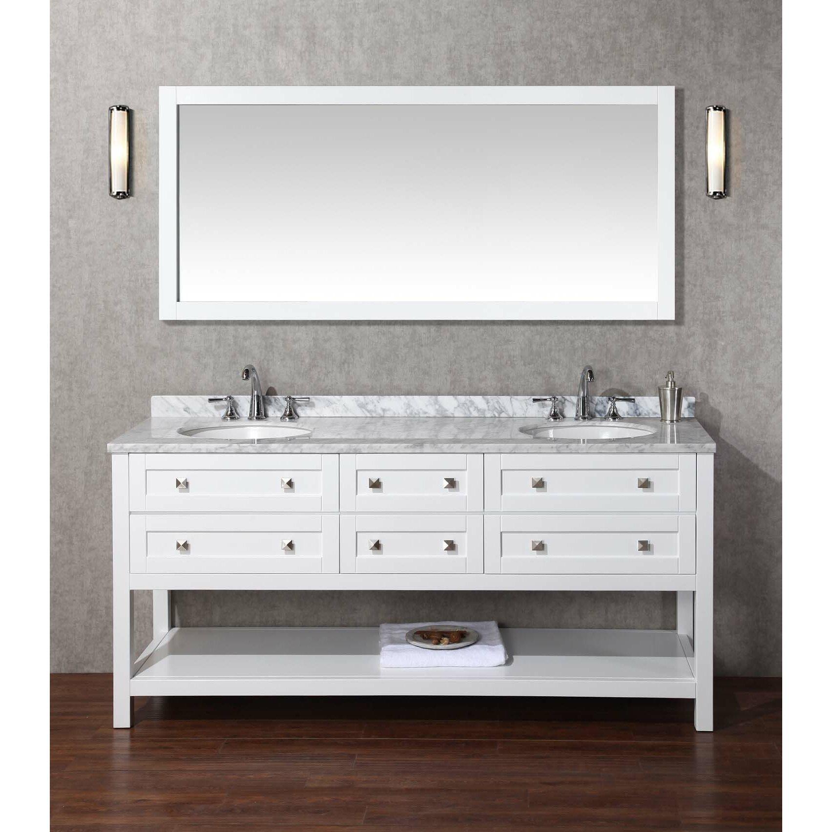 DCOR Design Albia 72 Double Bathroom Vanity Set With Mirror Revie