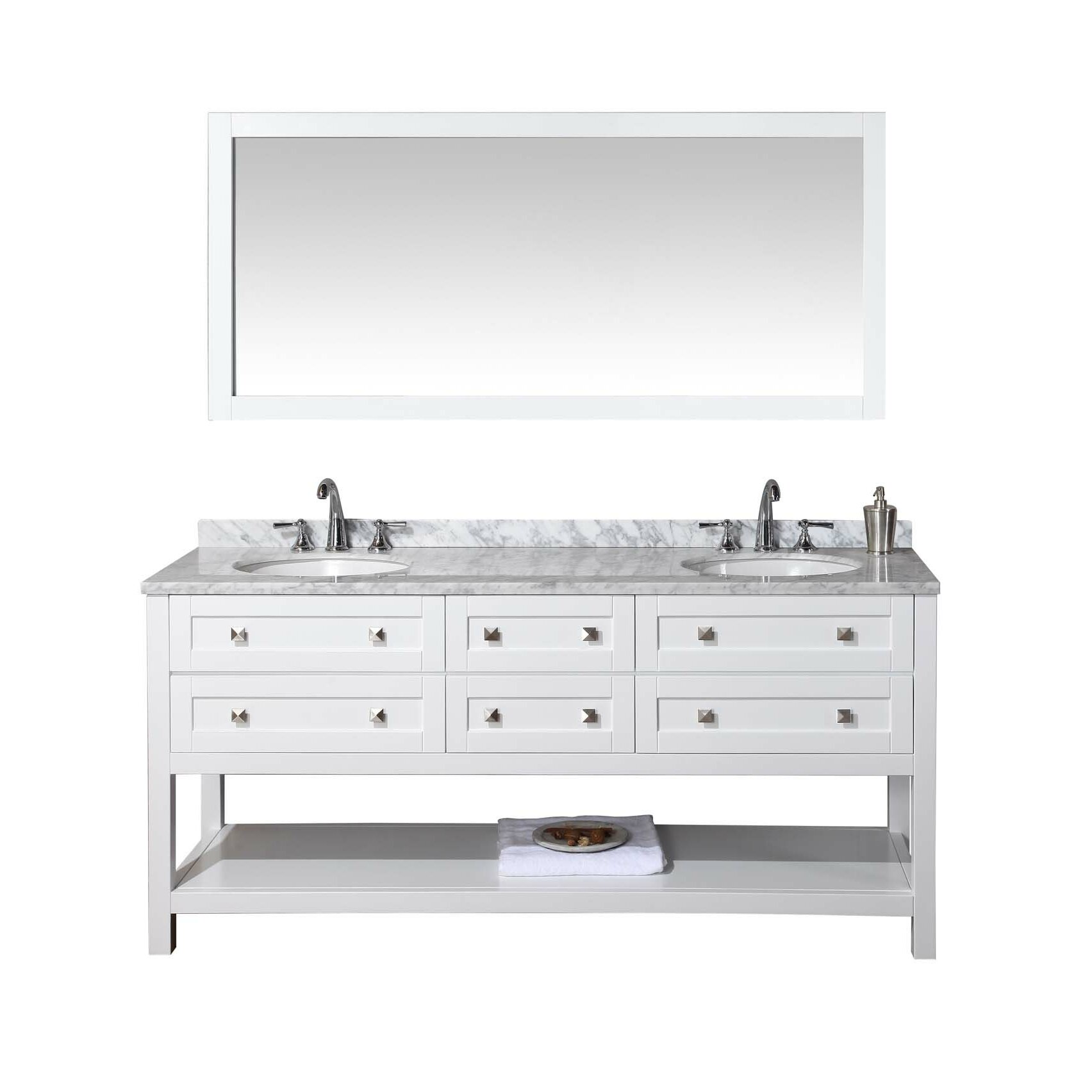 Dcor Design Albia 72 Double Bathroom Vanity Set With Mirror Reviews Wayfair