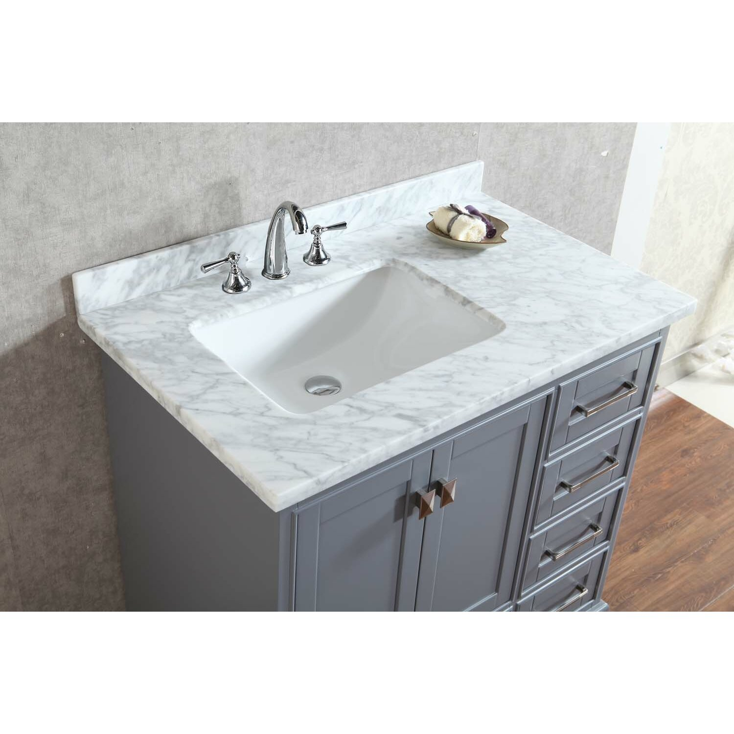 Dcor design barrington 36 single sink bathroom vanity set for Bath toilet and sink sets