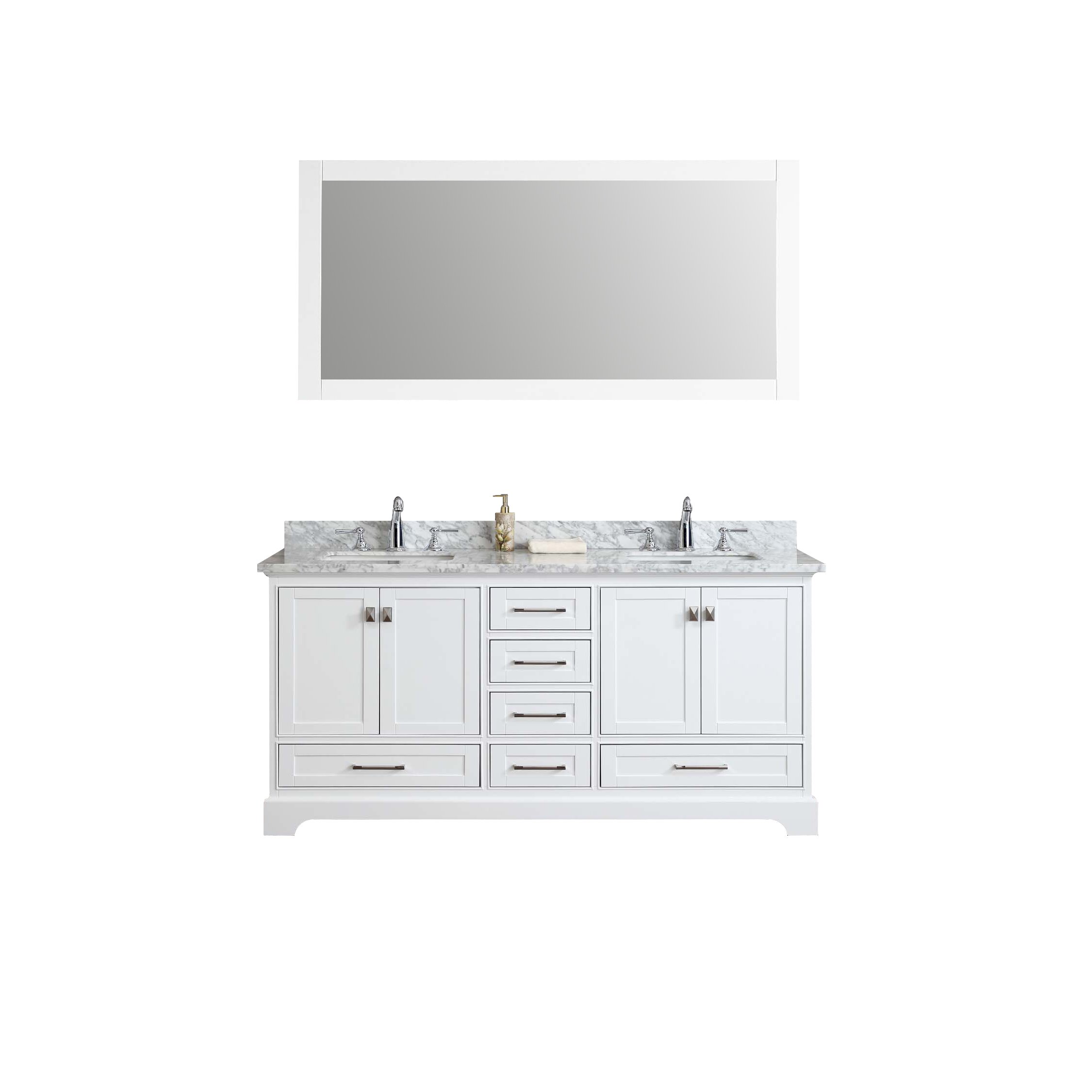 Dcor Design Barrington 72 Double Sink Bathroom Vanity Set With Mirror Reviews Wayfair