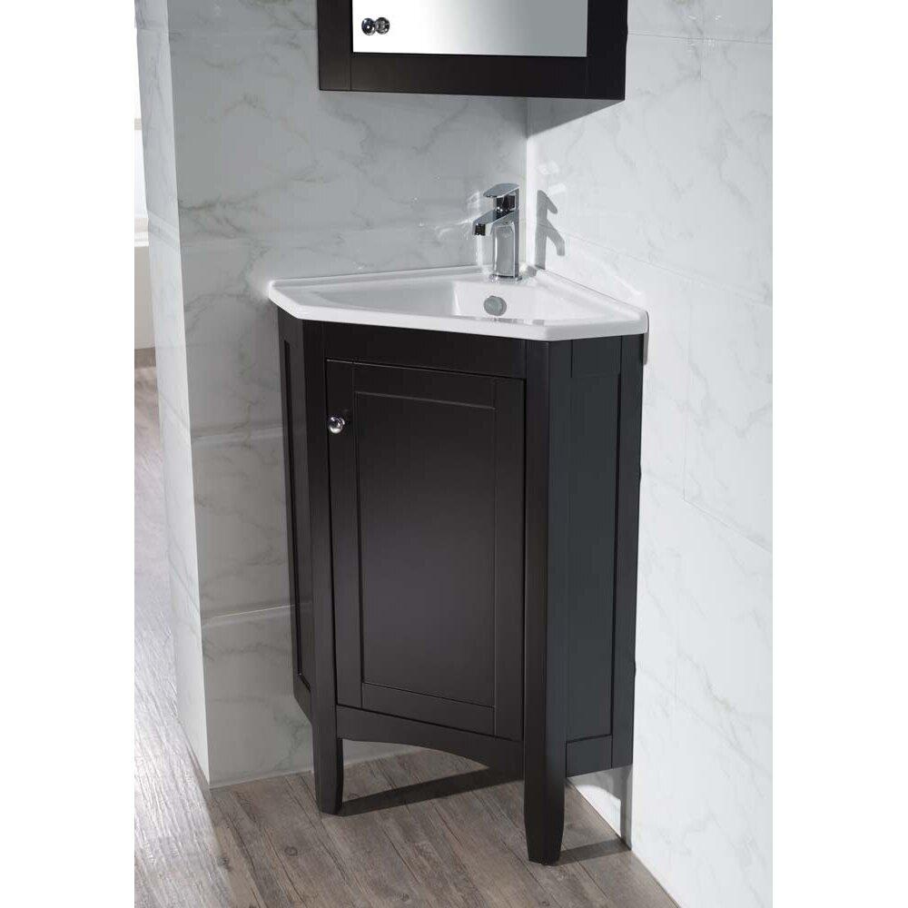 Dcor Design Argo 25 Single Corner Bathroom Vanity Set With Mirror Reviews Wayfair