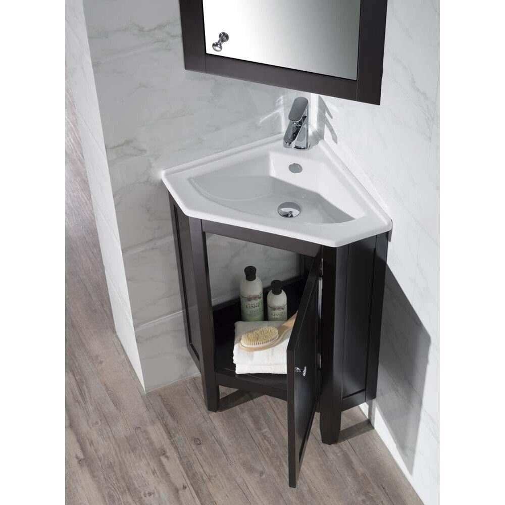 "DCOR Design Argo 25"" Single Corner Bathroom Vanity Set"