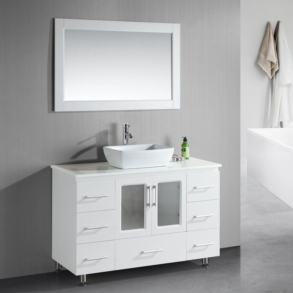 Dcor Design Pratt 48 Single Modern Bathroom Vanity Set With Mirror Reviews Wayfair