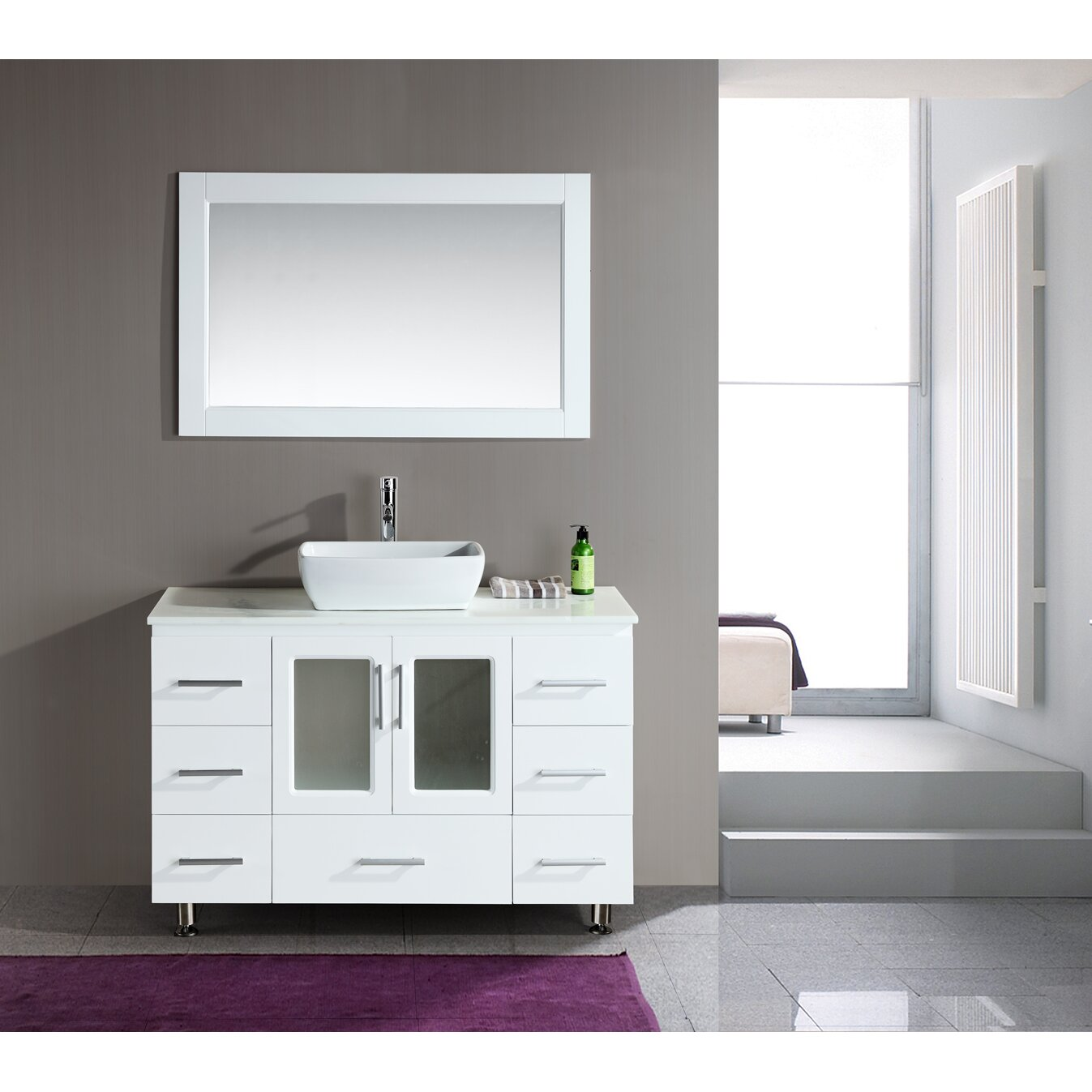 Dcor Design Pratt 48 Single Modern Bathroom Vanity Set
