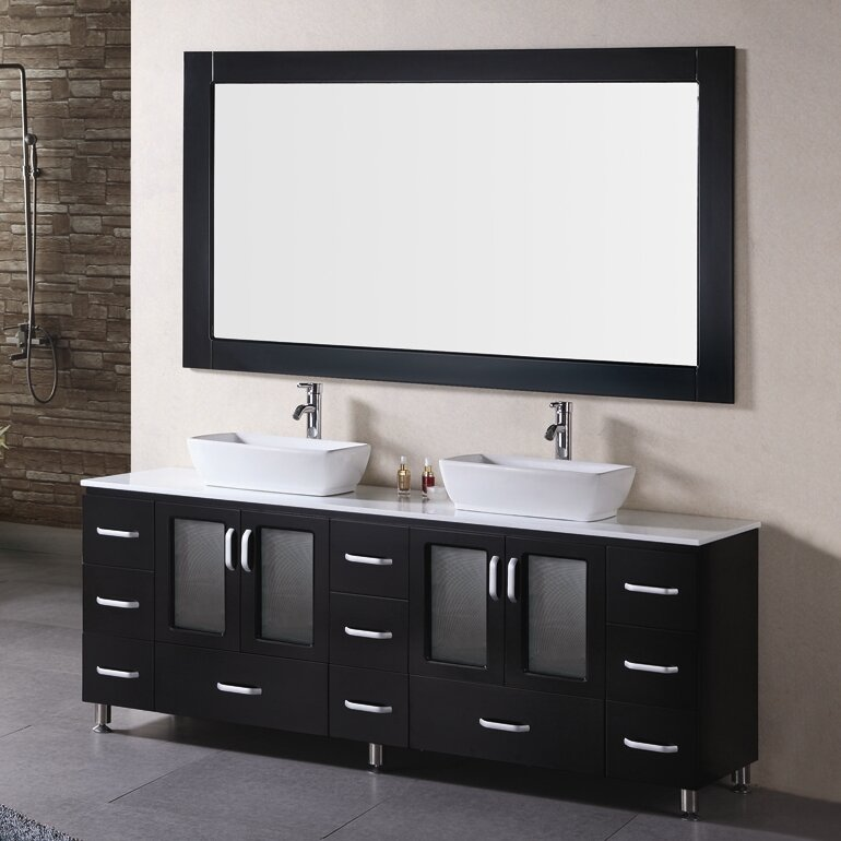 Dcor Design Pratt 72 Double Bathroom Vanity Set With Mirror Reviews Wayfair