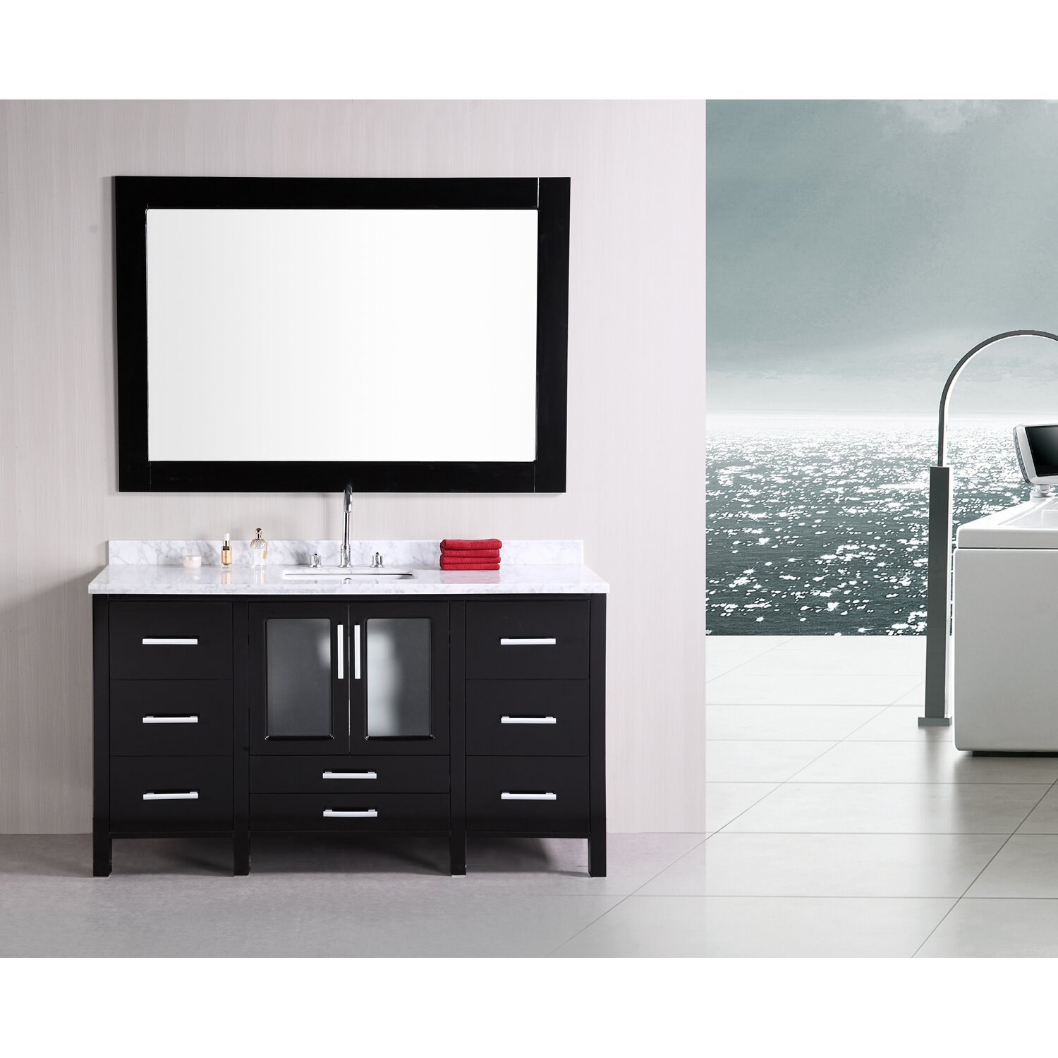 Dcor Design Pratt 60 Single Modern Bathroom Vanity Set With Mirror Reviews Wayfair