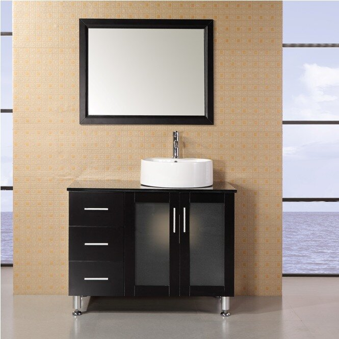Dcor Design Palm Springs 39 Single Modern Bathroom Vanity Set With Mirror Reviews Wayfair