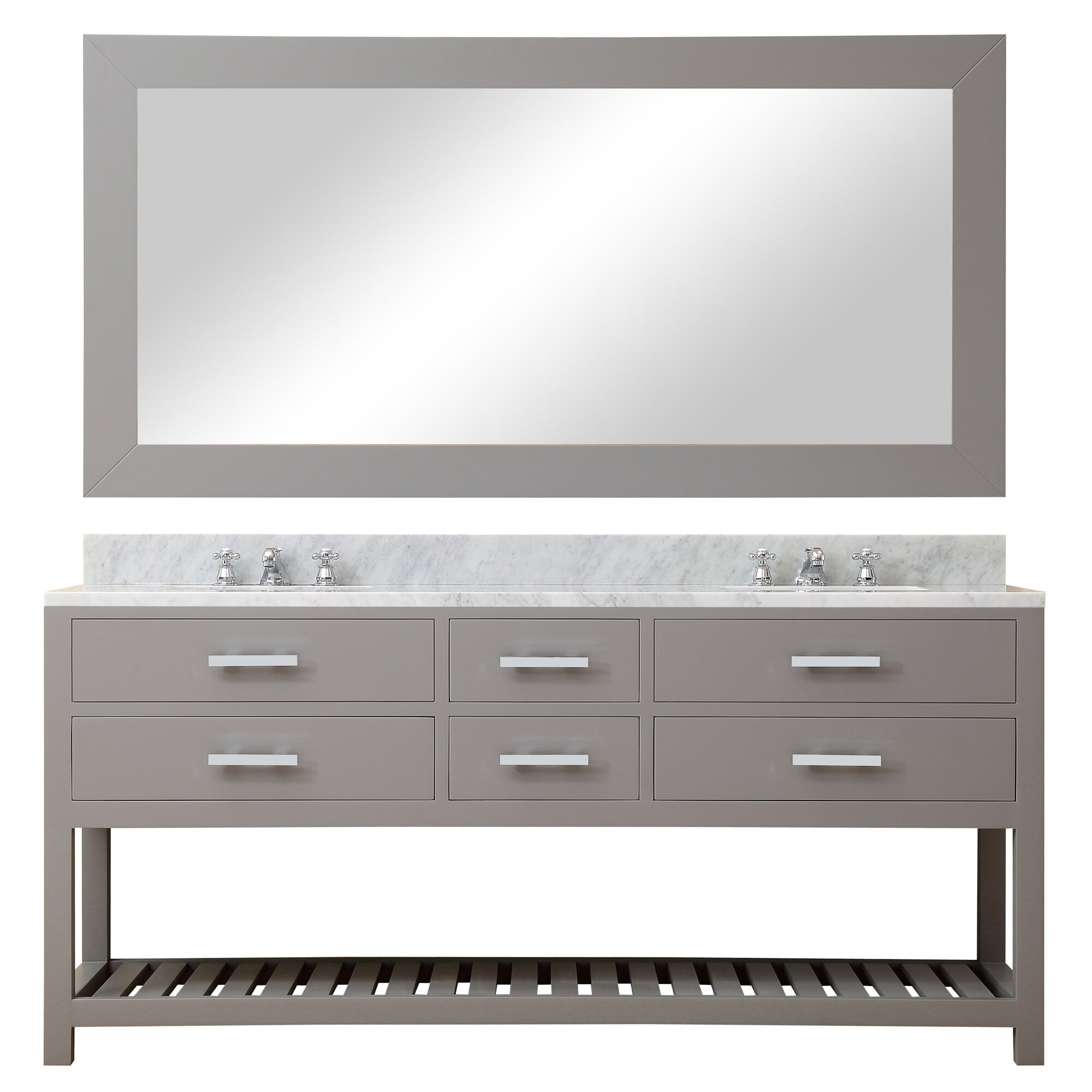 Dcor Design Creighton 72 Double Sink Bathroom Vanity Set