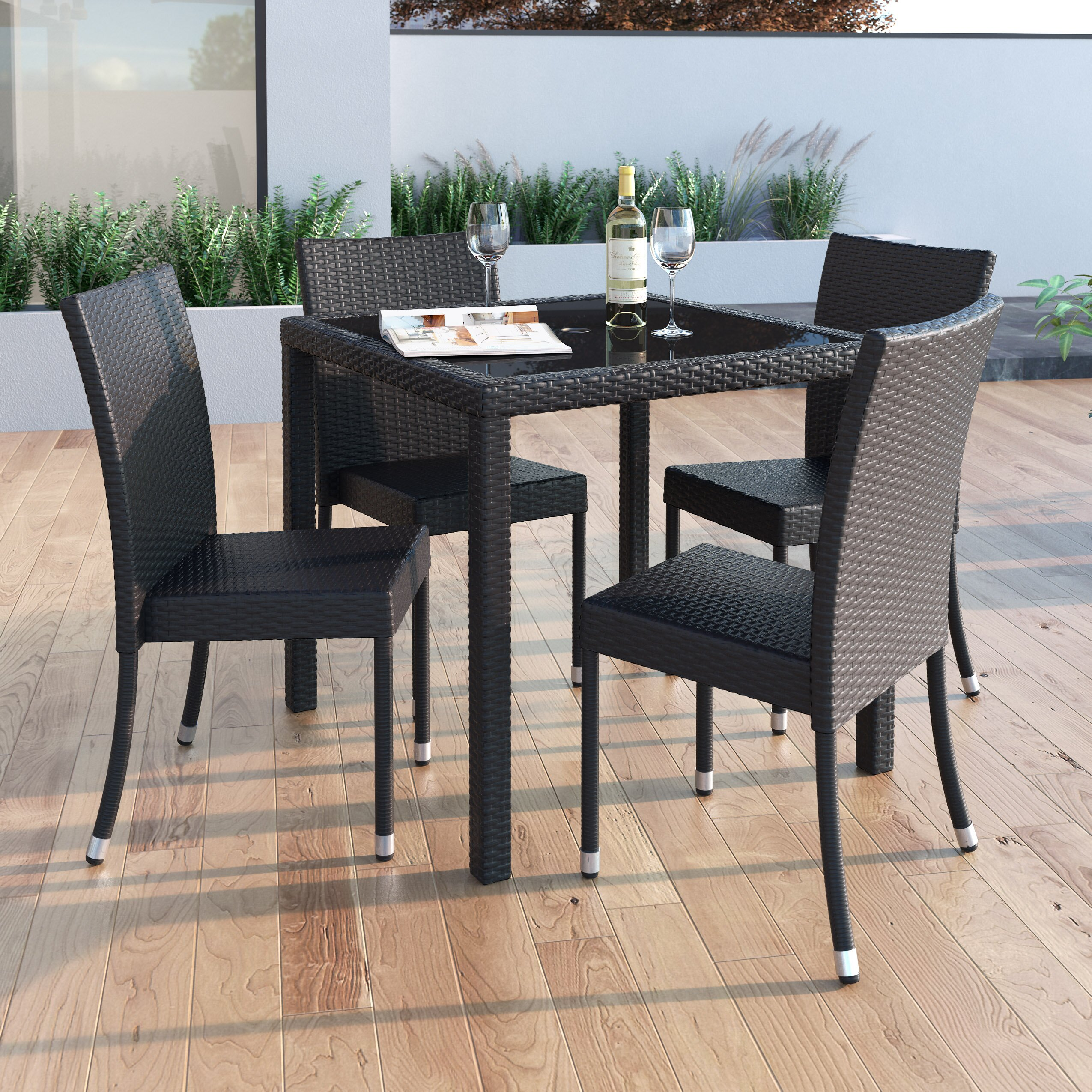 dcor design park terrace dining table reviews. Black Bedroom Furniture Sets. Home Design Ideas
