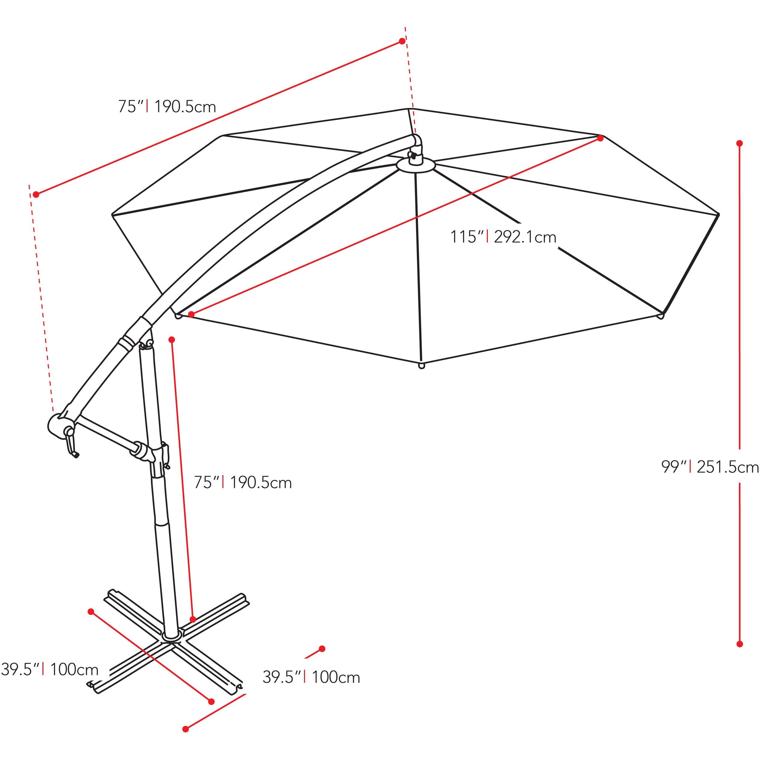 Dcor design 10 39 cantilever umbrella reviews wayfair for Architecture upbrella