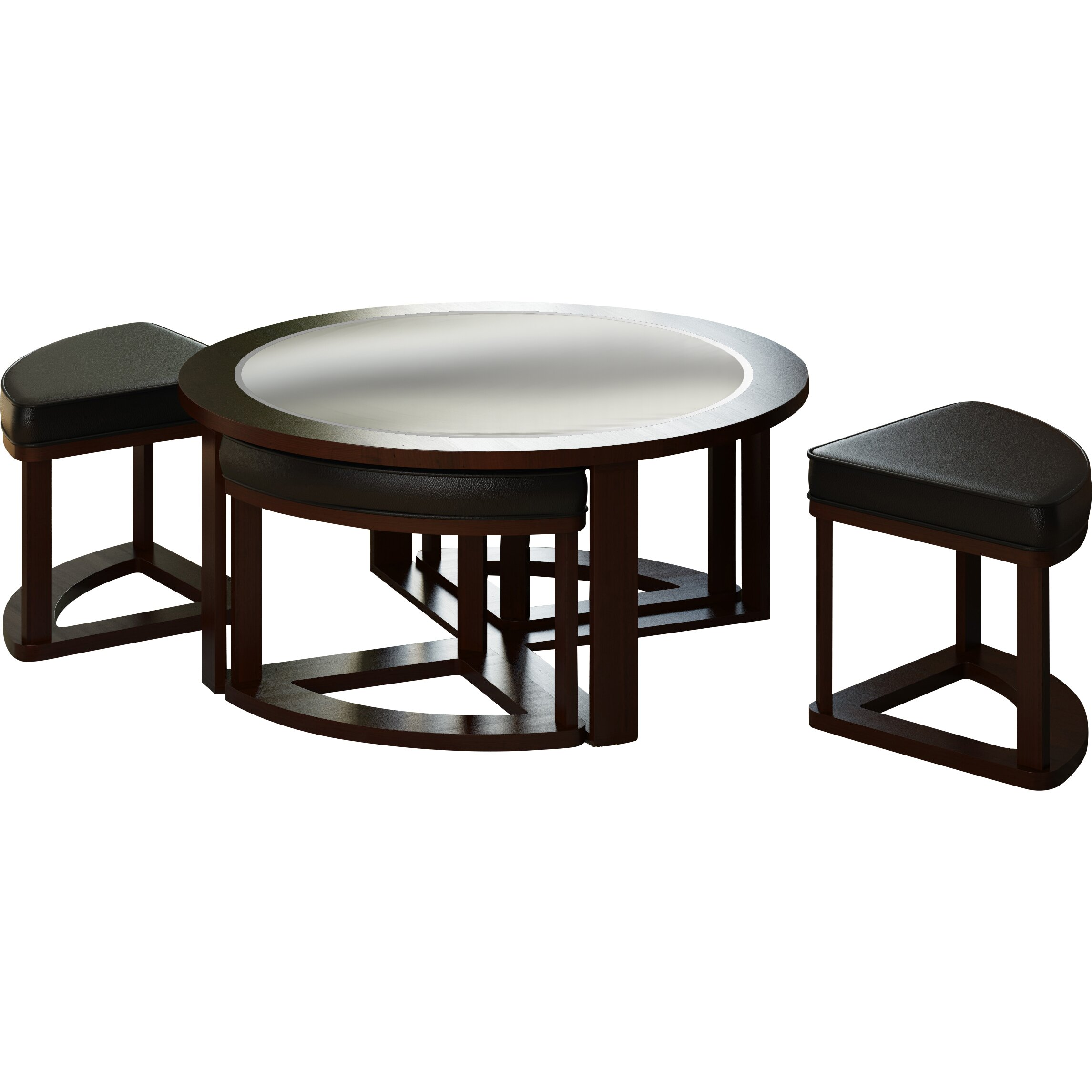 Dcor Design Belgrove Coffee Table With 4 Stools Reviews