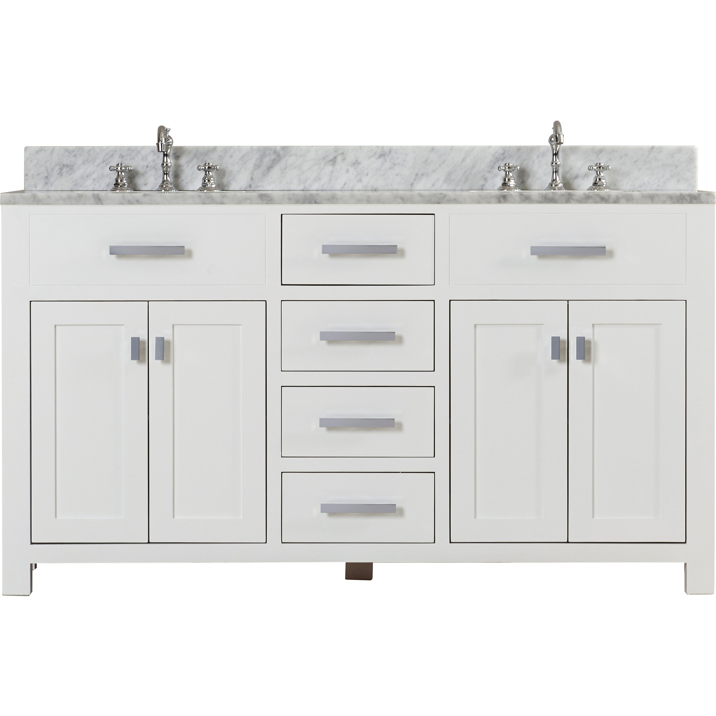 Dcor Design Creighton 60 Double Bathroom Vanity Set Reviews Wayfair