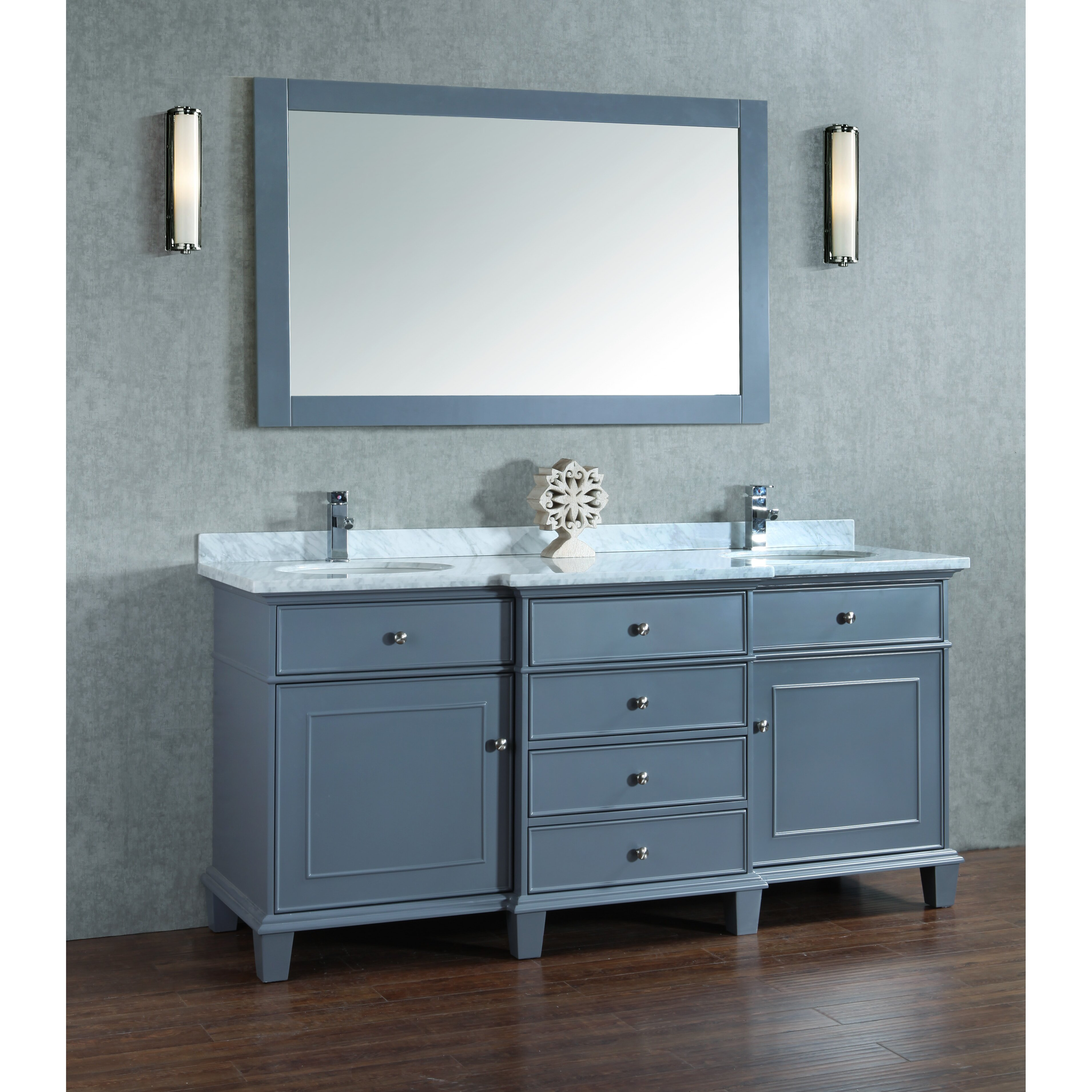 Dcor Design Melton 72 Double Sink Bathroom Vanity Set With Mirror Reviews Wayfair
