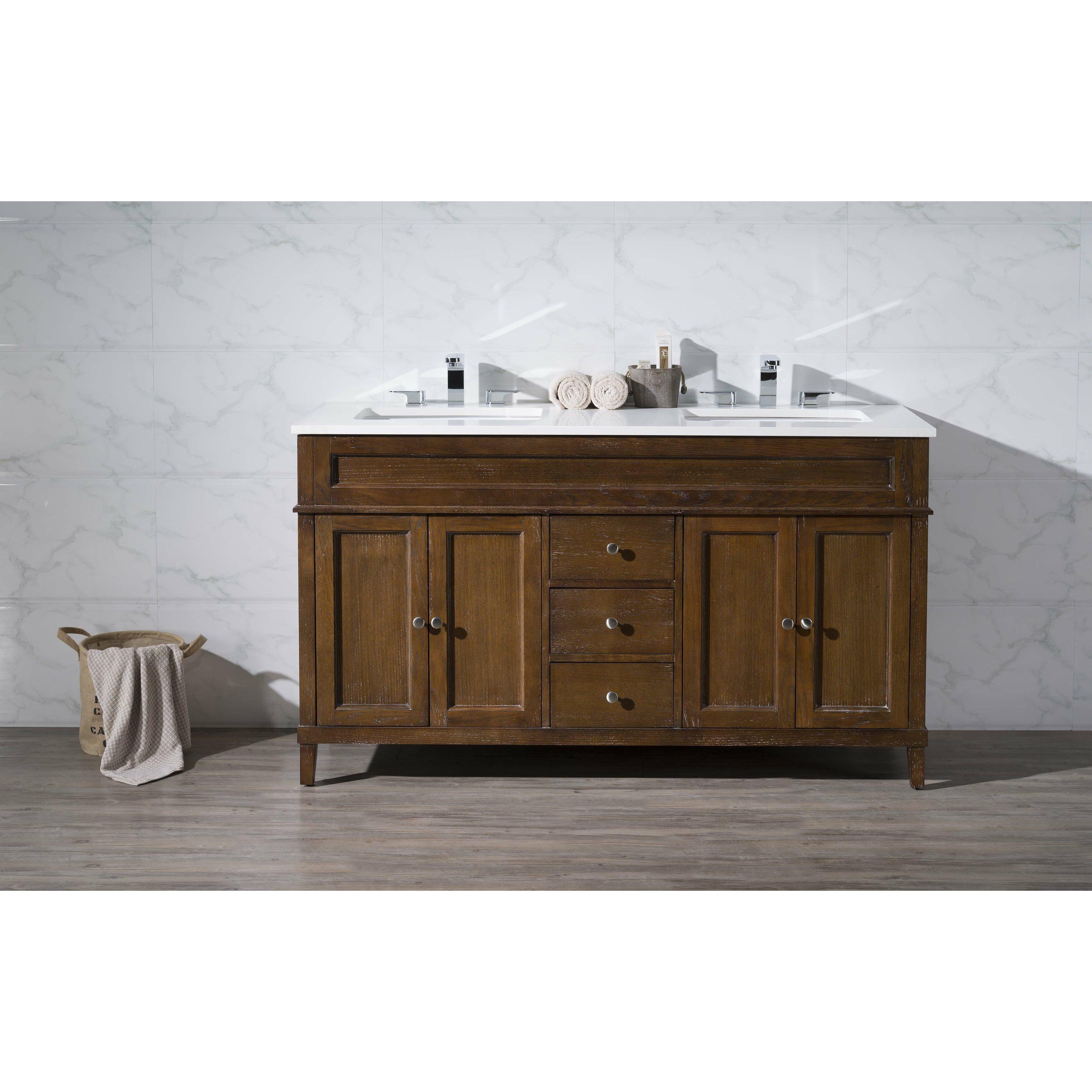 DCOR Design Oakmont 59 Double Sink Bathroom Vanity Set Reviews