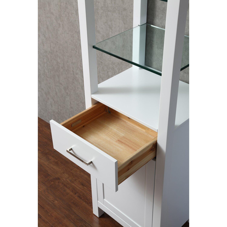 Dcor design kenya 20 x 70 free standing linen cabinet - Free standing linen cabinets for bathroom ...