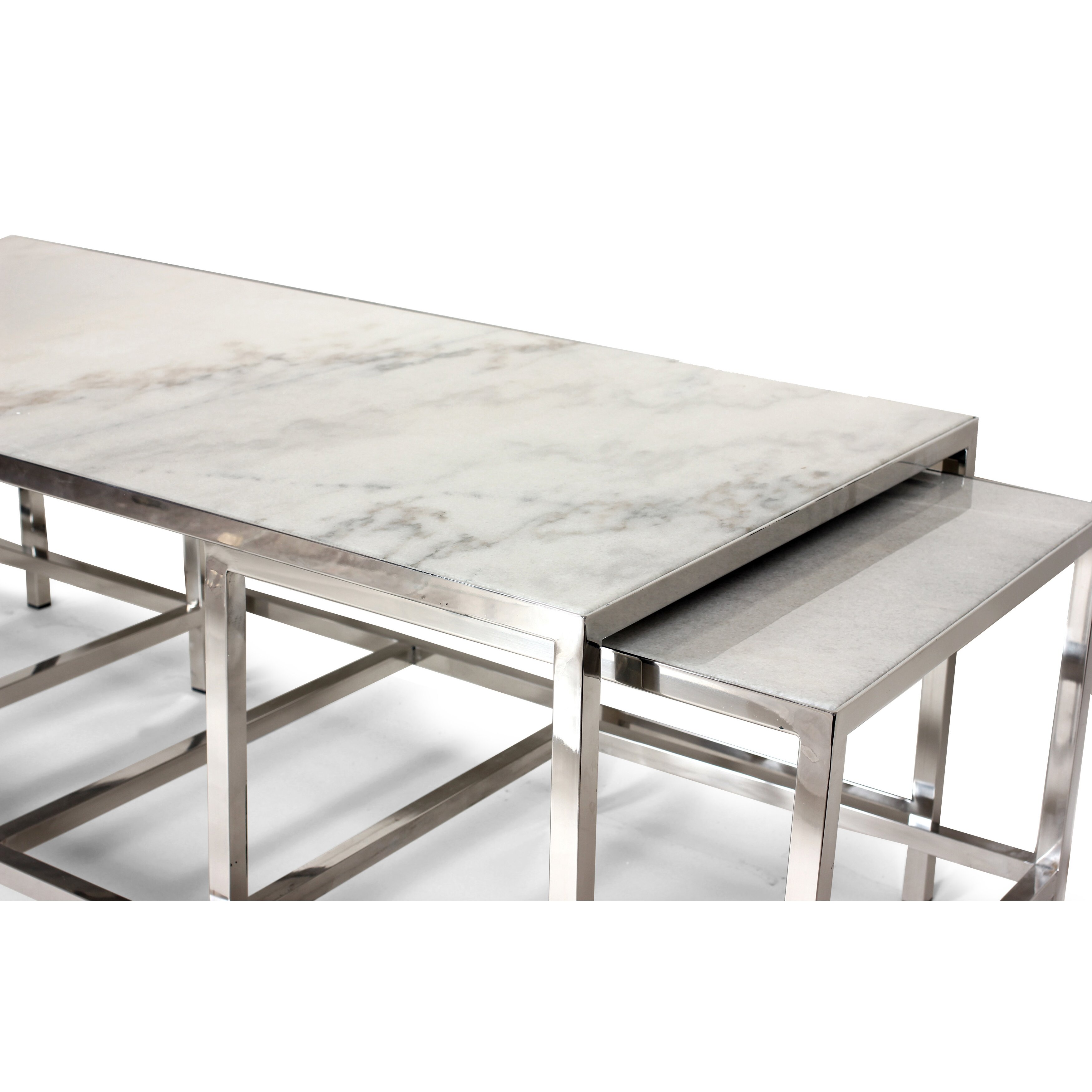 Dcor design the svendborg 3 piece coffee table set wayfair for Coffee tables 3 piece