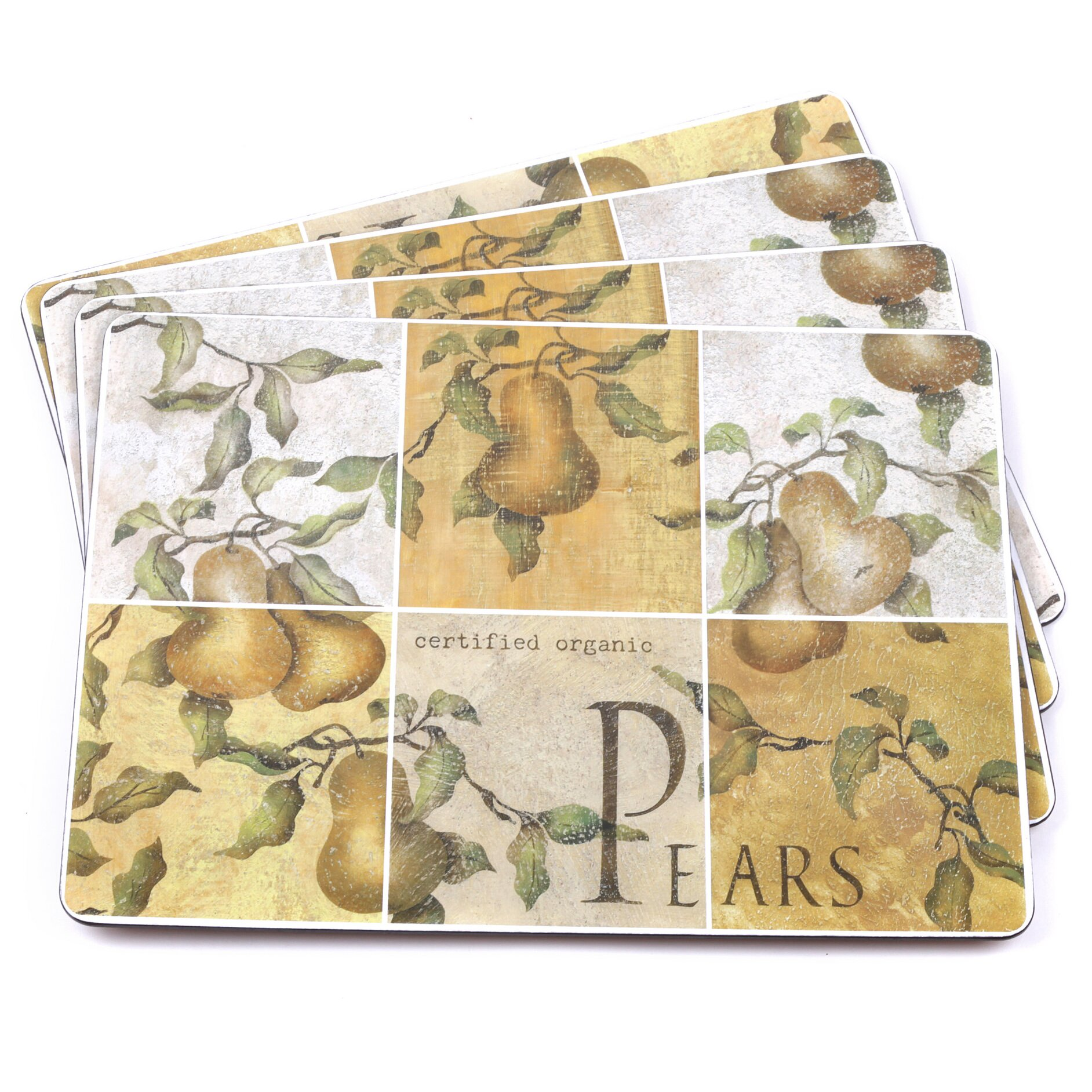 Sweet Home Collection Pears Hardboard Cork Backed Placemat