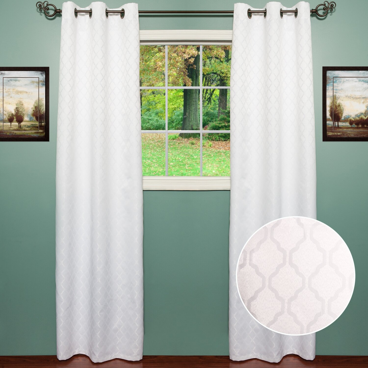 Sweet Home Collection Lattice Curtain Panel & Reviews ...