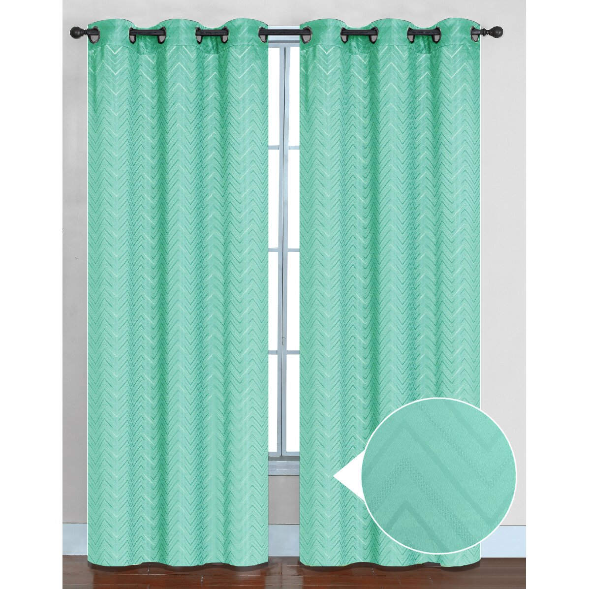 Chevron curtain panel by sweet home collection