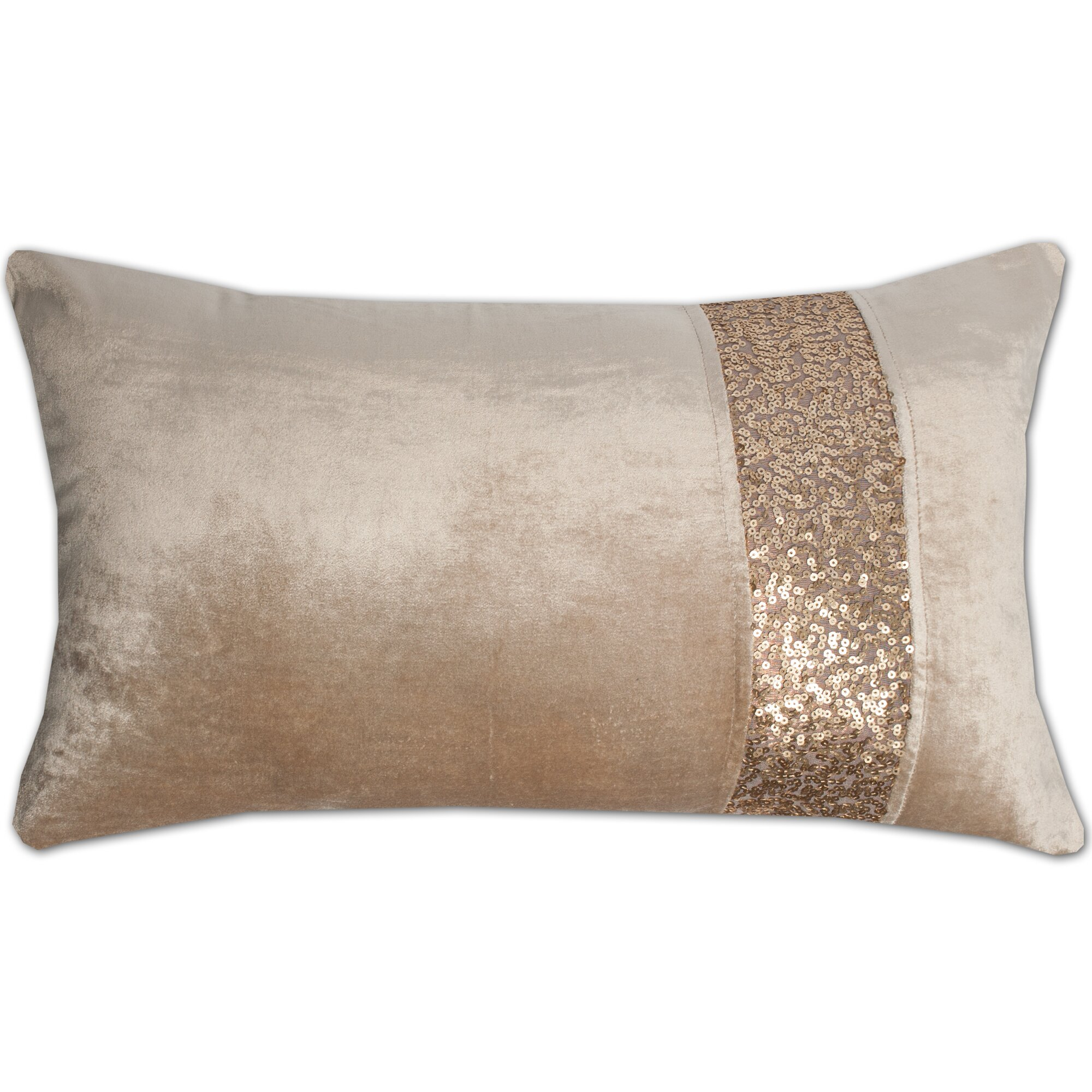 Gracious Home Decorative Pillows : Sweet Home Collection Luxury Zippered Sequin Stripe Decorative Throw Pillow & Reviews Wayfair
