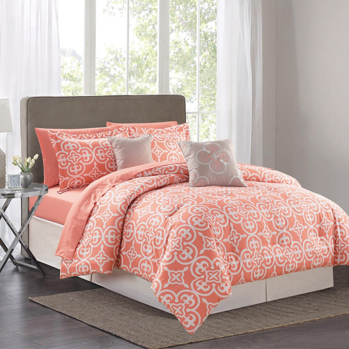 Sweet Home Collection Pottia 9 Piece Queen Bed In A Bag