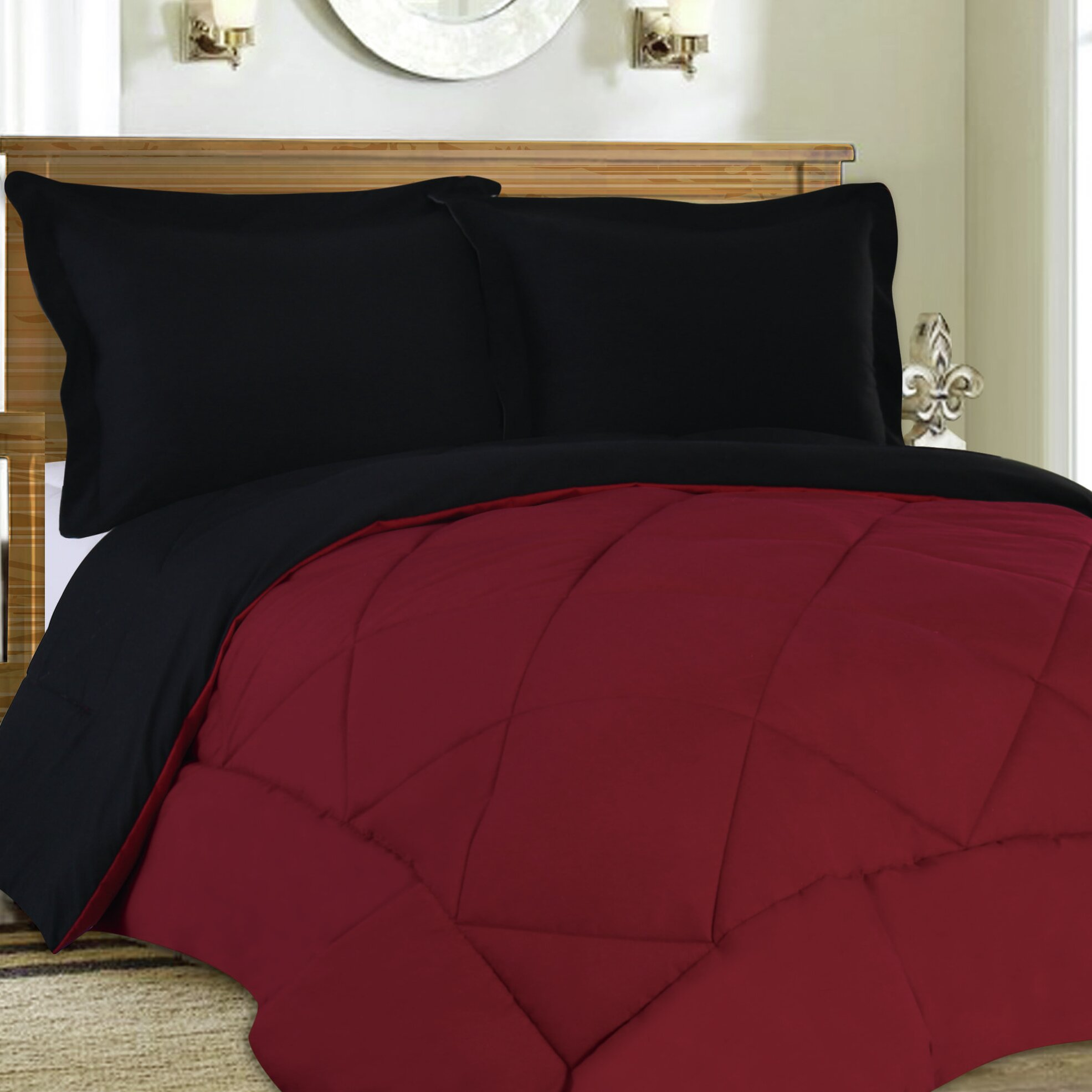 Sweet Home Collection 3 Piece Reversible Comforter Set ...