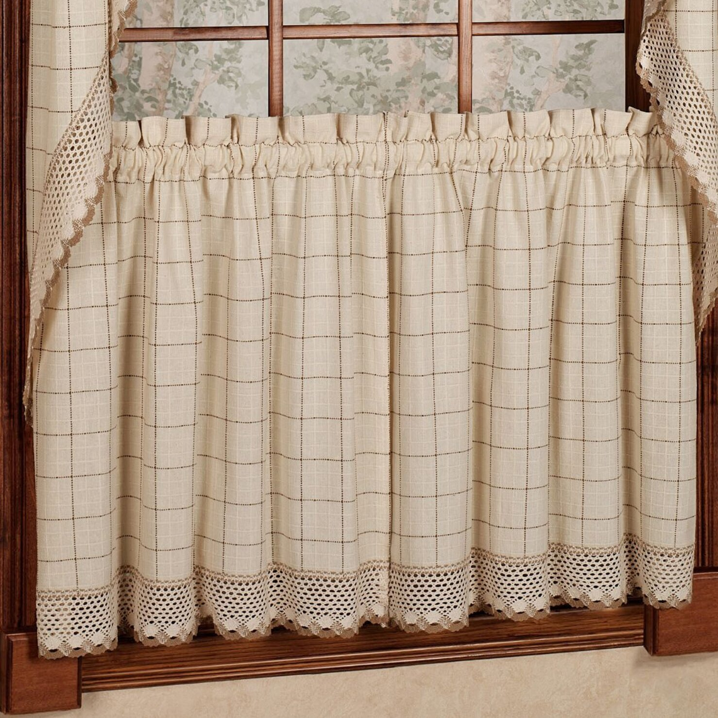 Sweet Home Collection Adirondack Cotton Kitchen Window ...