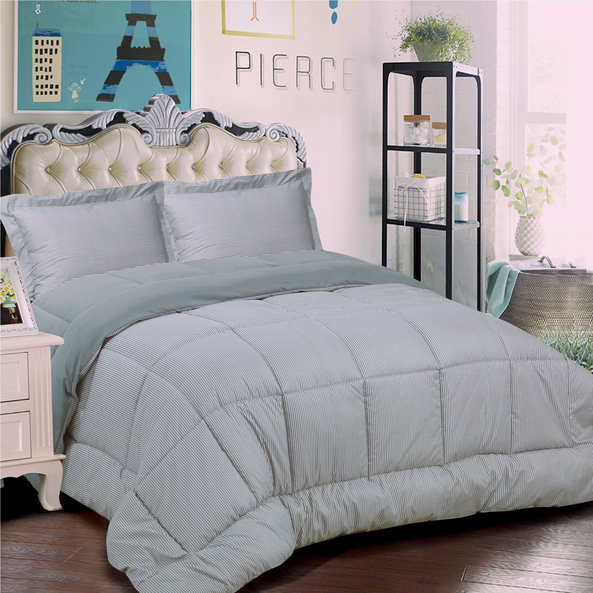 Sweet Home Collection Loft 3 Piece Reversible Comforter ...