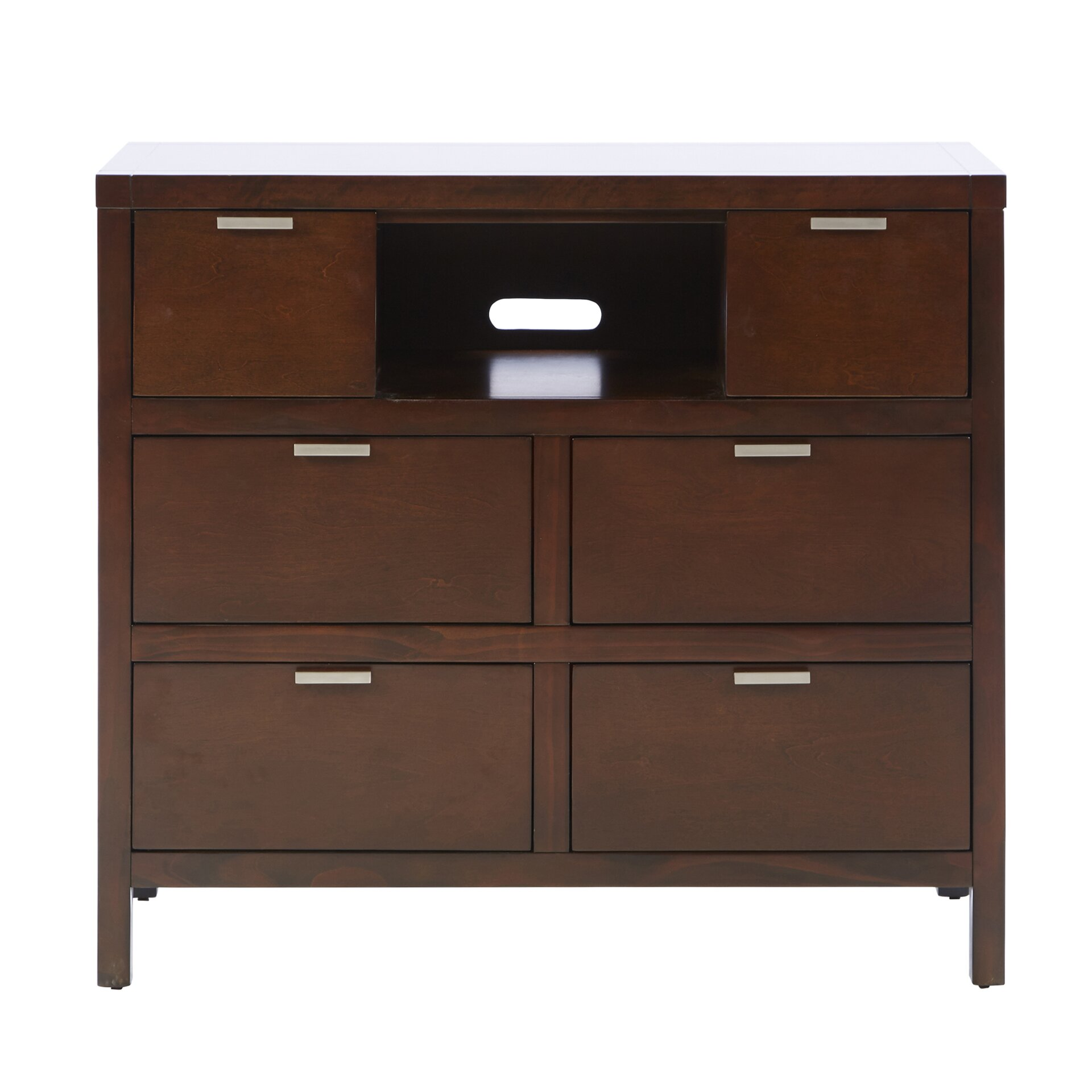 Mercury row juno 6 drawer media chest reviews wayfair for 1 door 6 drawer chest