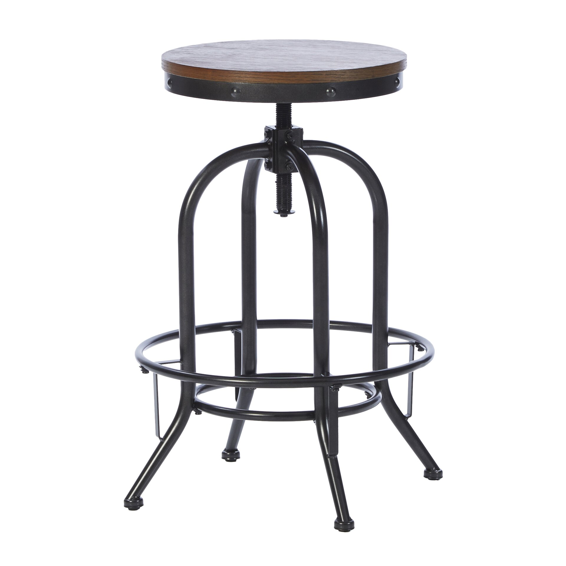 Mercury row adjustable height swivel bar stool reviews for Counter height swivel bar stools