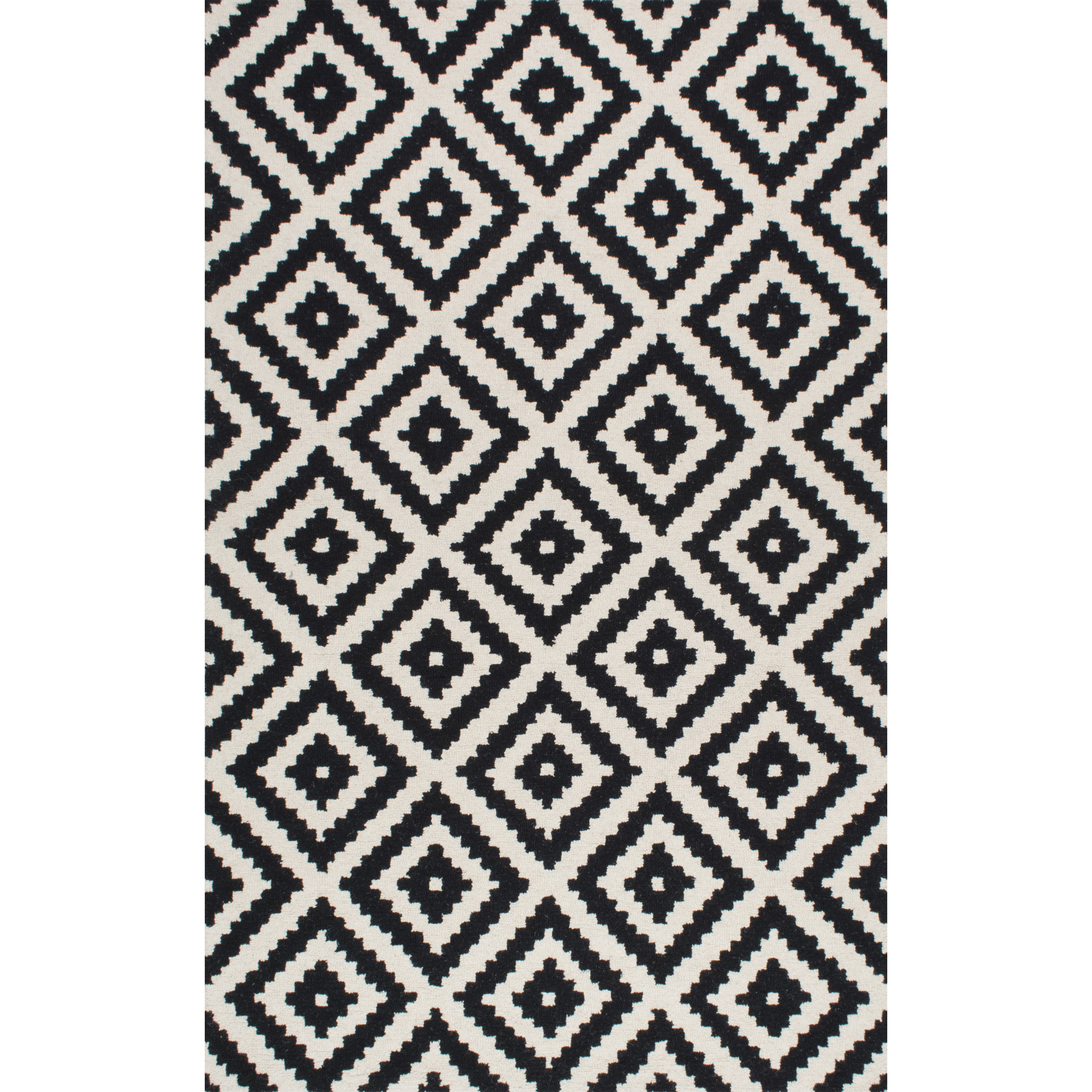 Mercury Row Obadiah Hand-Tufted Black/Cream Area Rug ...